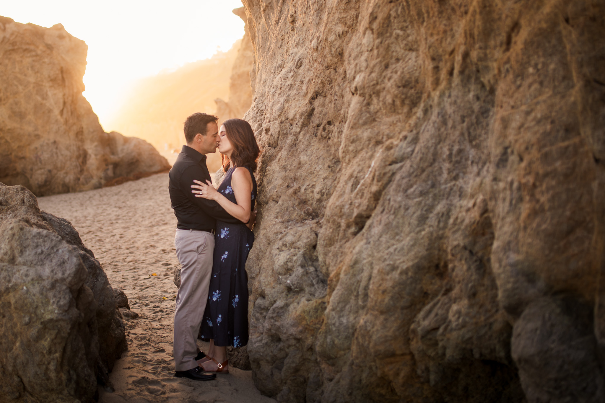 12 el matador state beach malibu engagement photography
