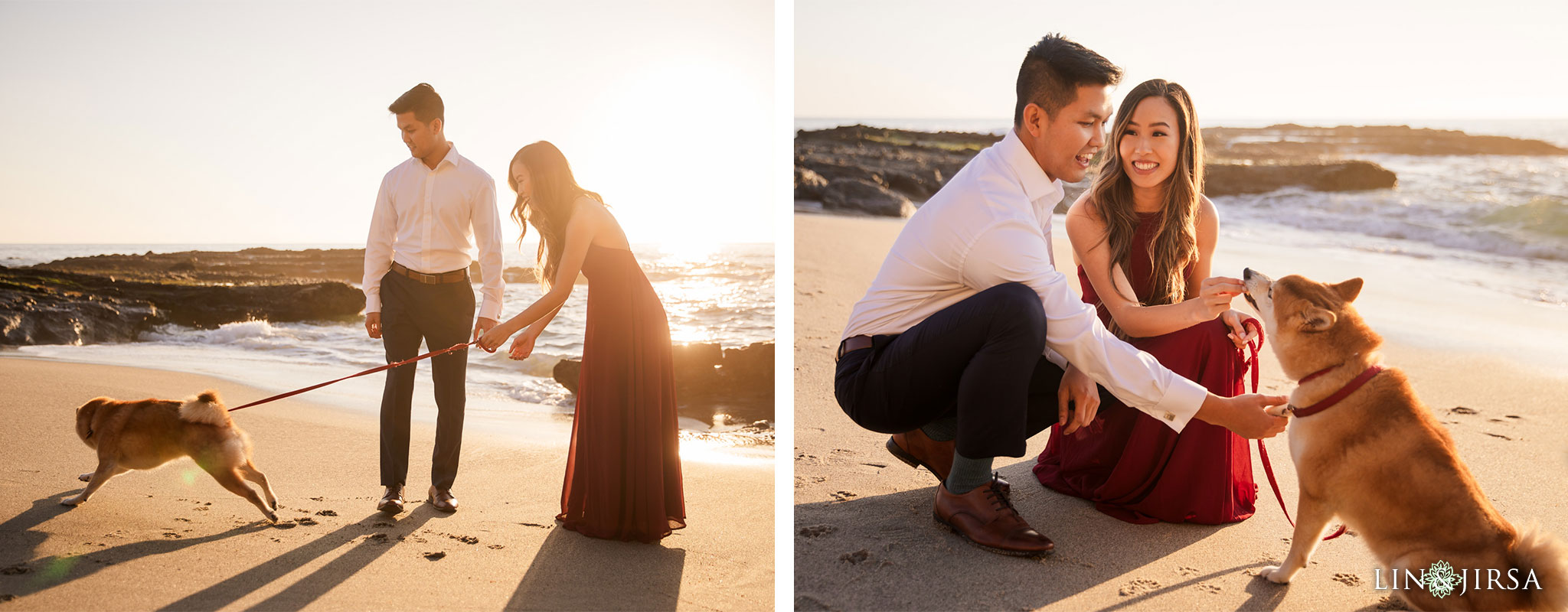 12 doggy victoria beach engagement photography