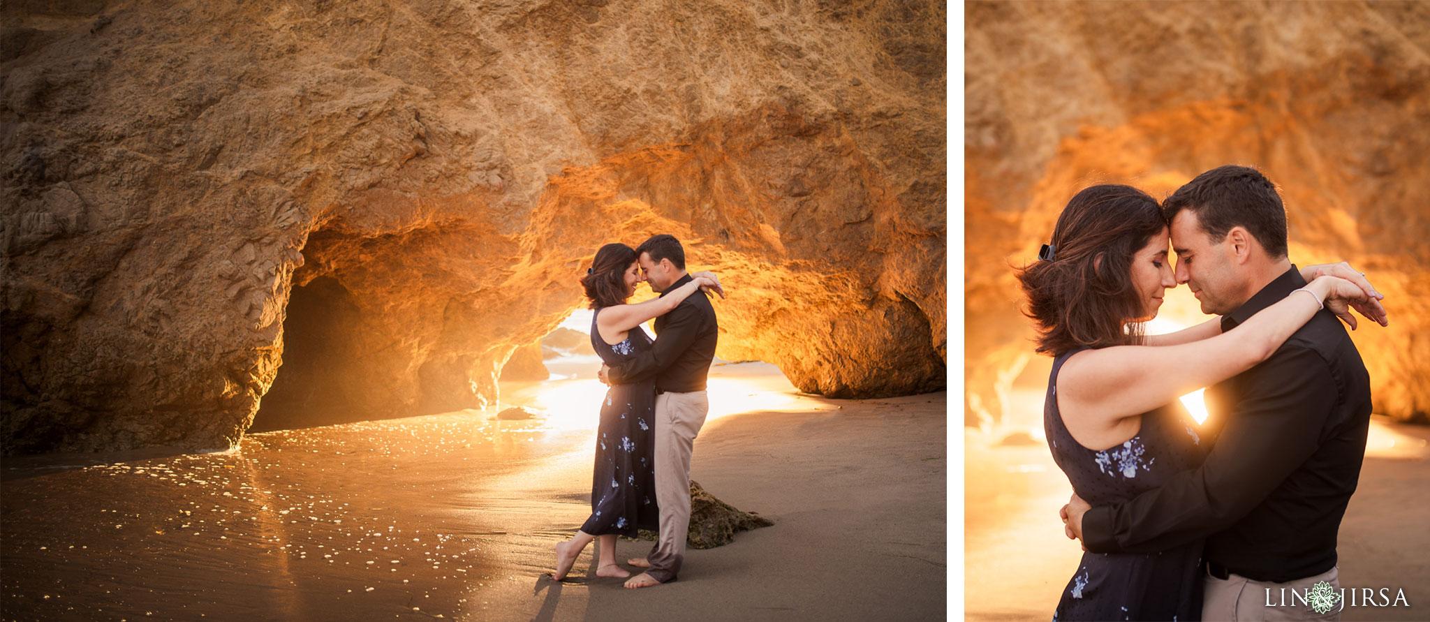 14 el matador state beach malibu engagement photography