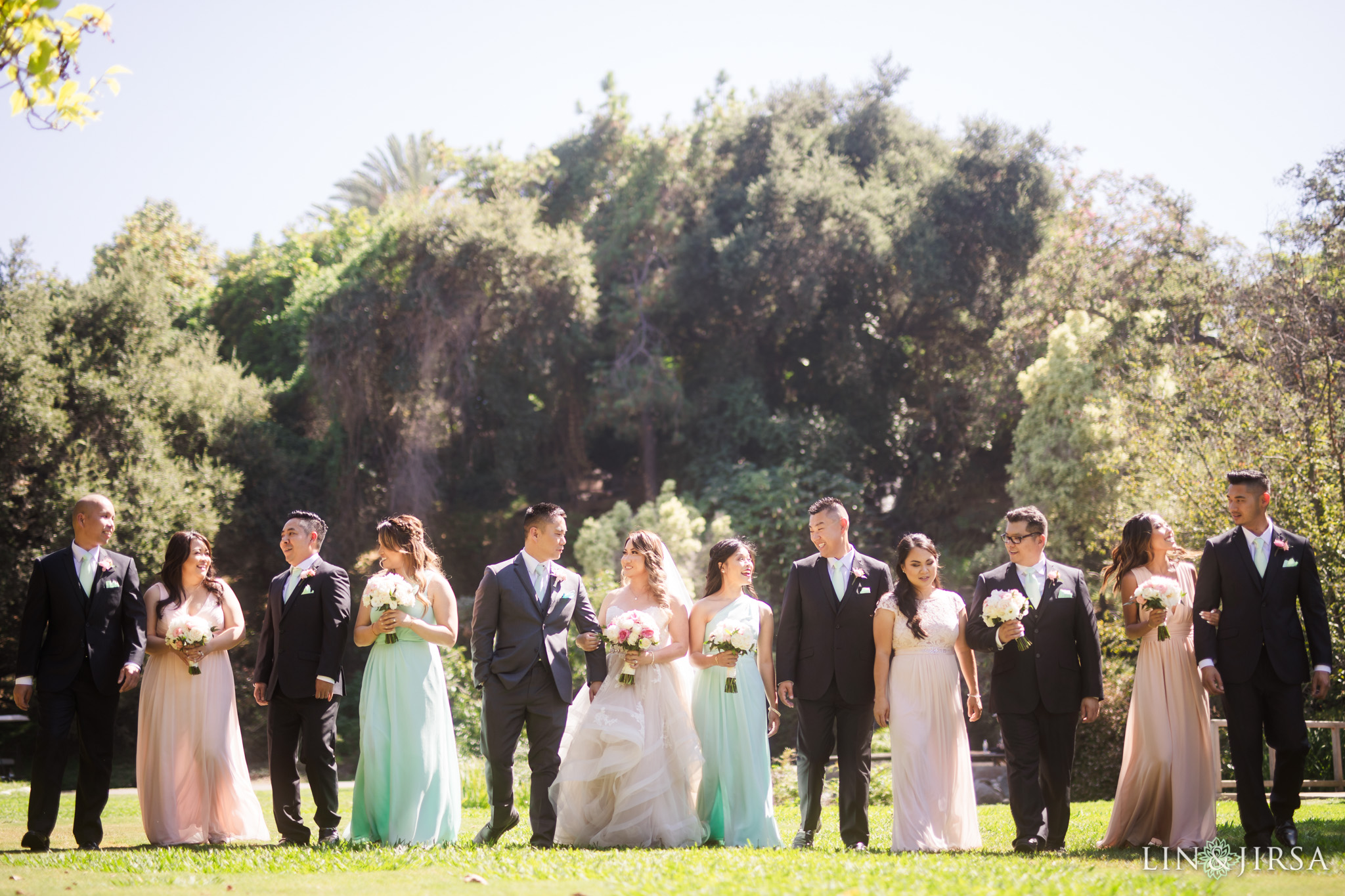 14 los angeles arboretum wedding party photography