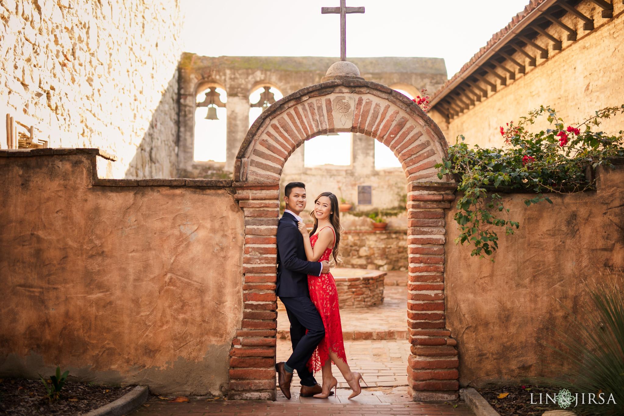 2 mission san juan capistrano engagement photography