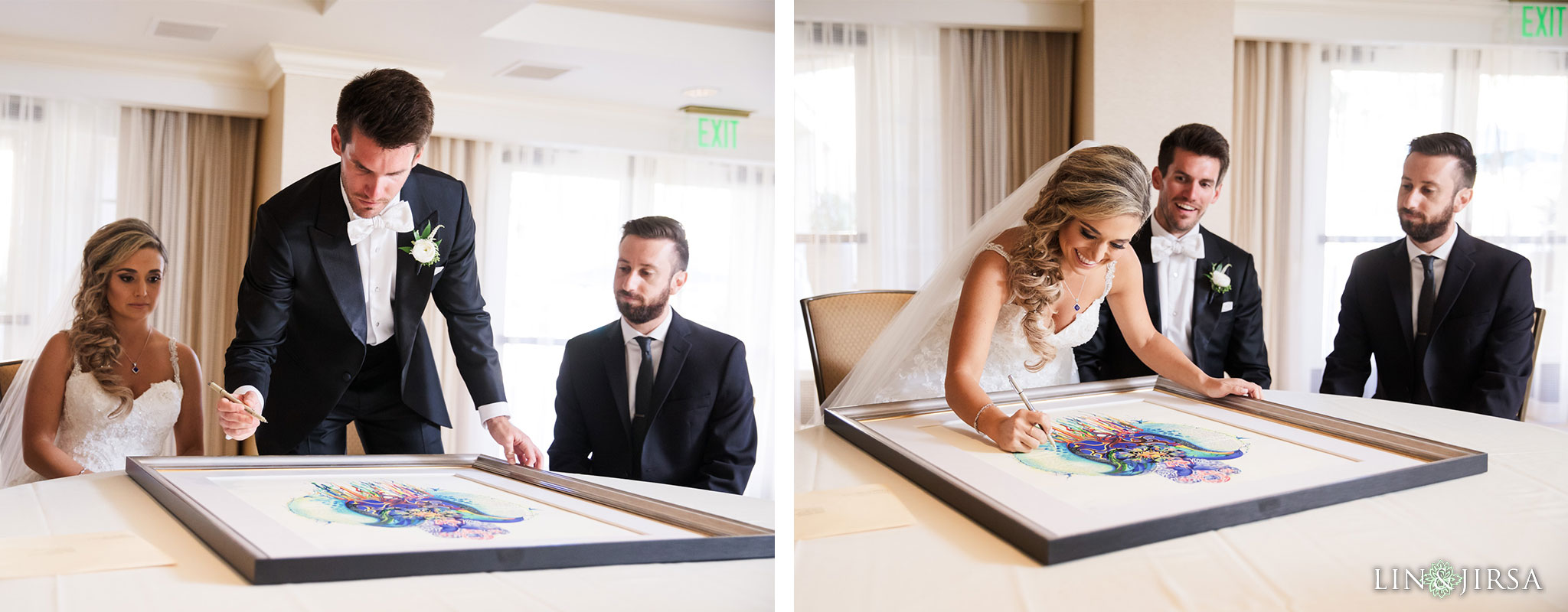 21 balboa bay wedding ketubah signing photography