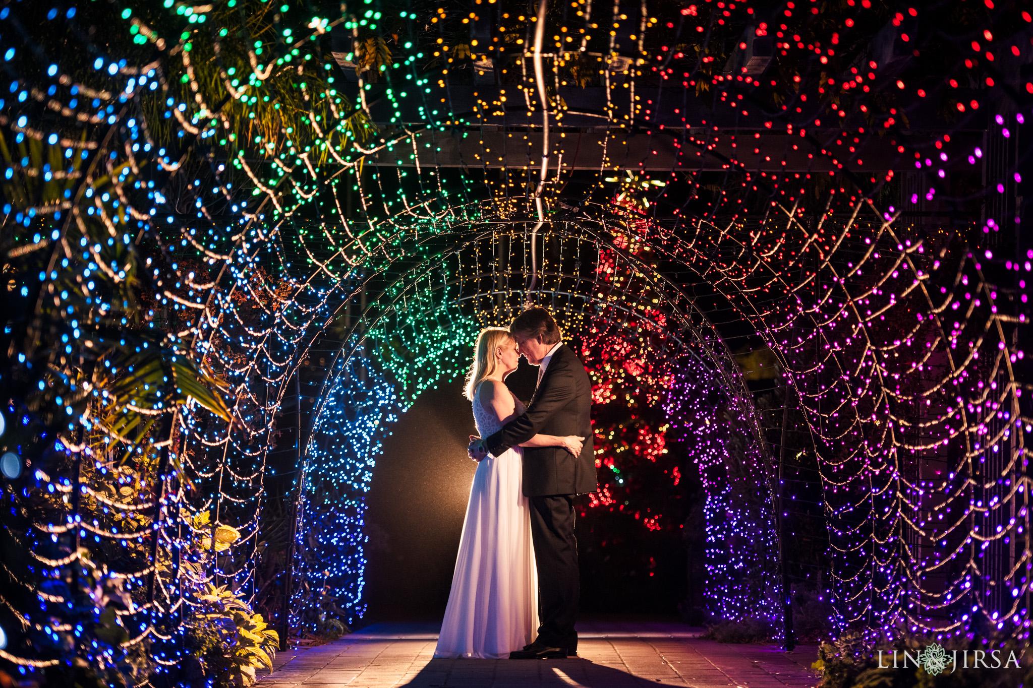 27 sherman library gardens orange county christmas lights wedding photography
