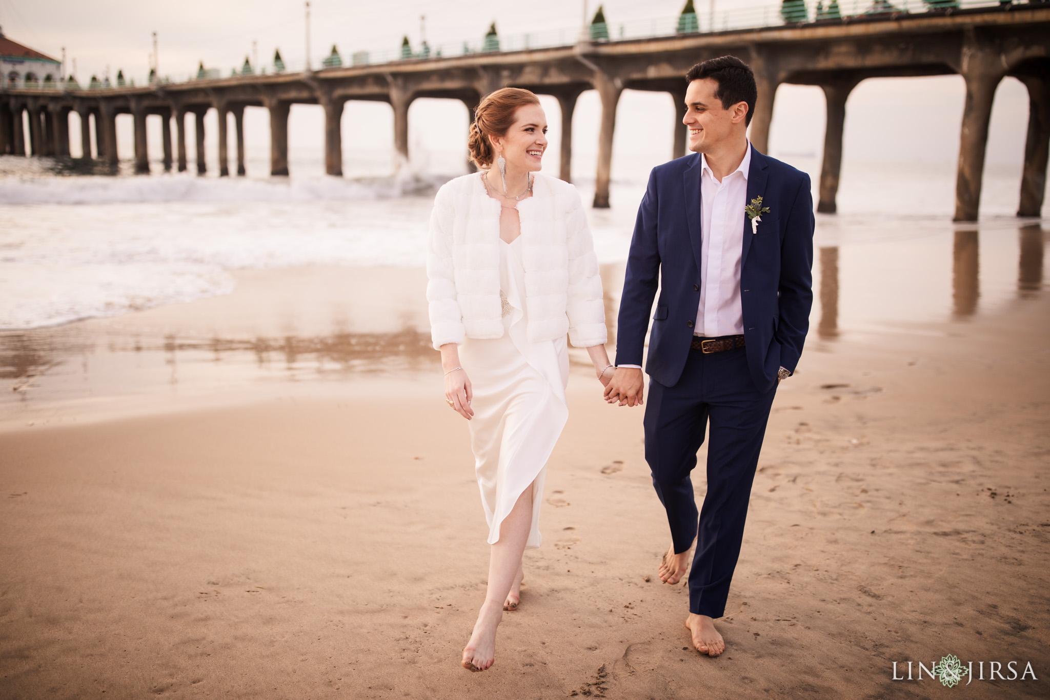 44 manhattan beach ocean beaches wedding photography