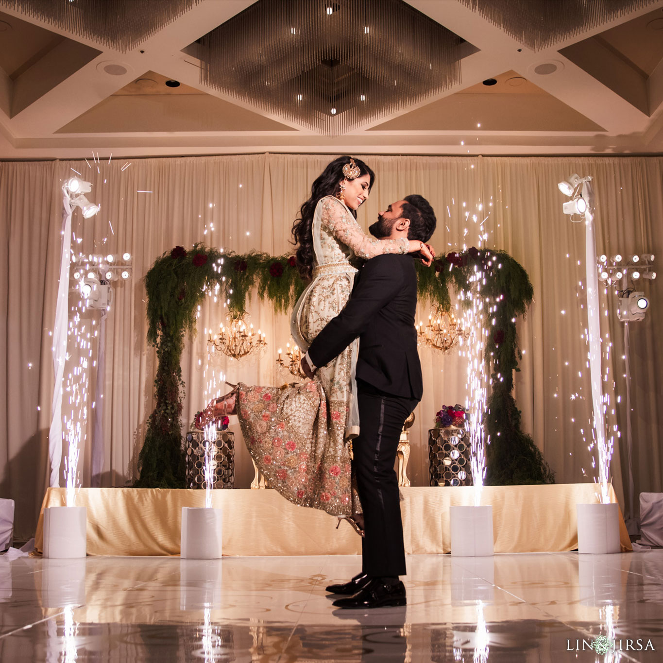 54 hotel irvine orange county indian wedding sparklers photography
