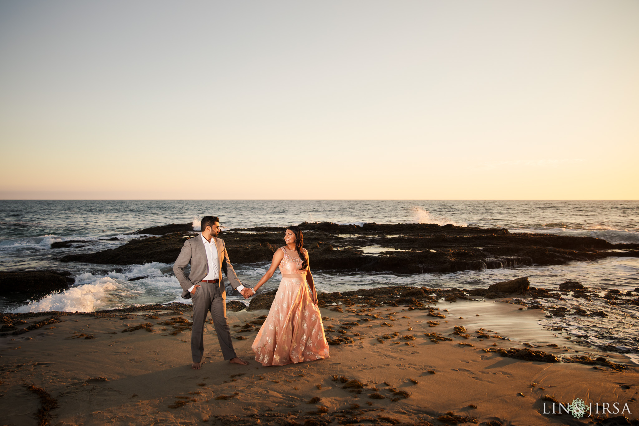07 victoria beach indian couple engagement photography