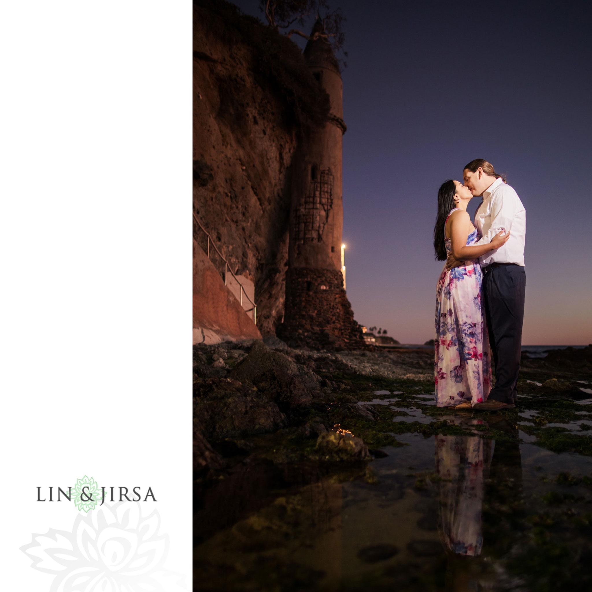 12 laguna beach sunset engagement photographer