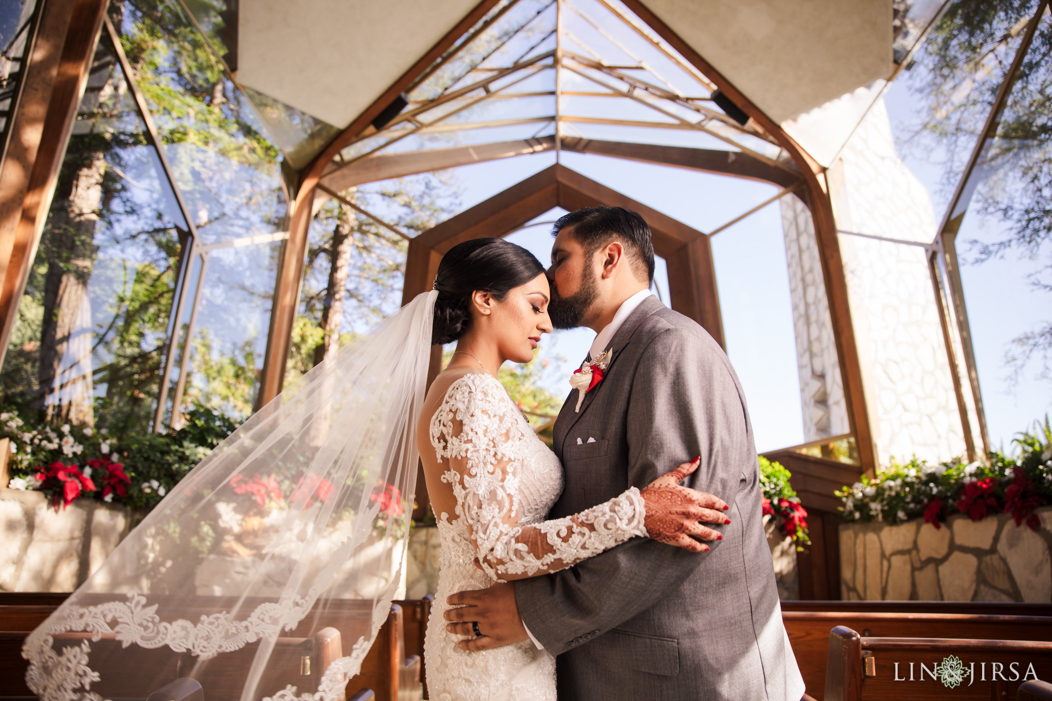 13 Wayfarers Chapel Palos Verdes Indian Wedding Photography