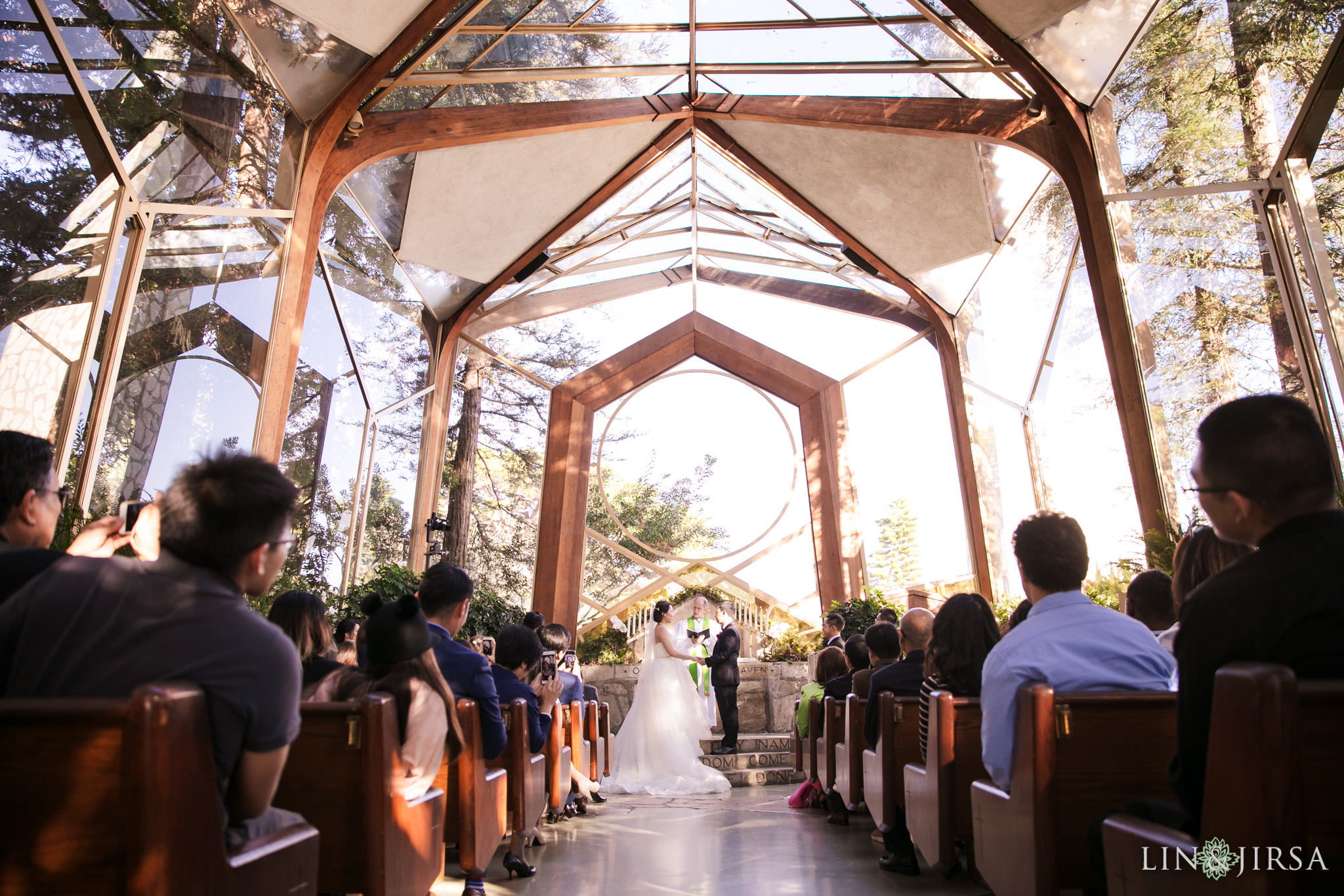15 Wayfarers Chapel Wedding Ceremony Photography