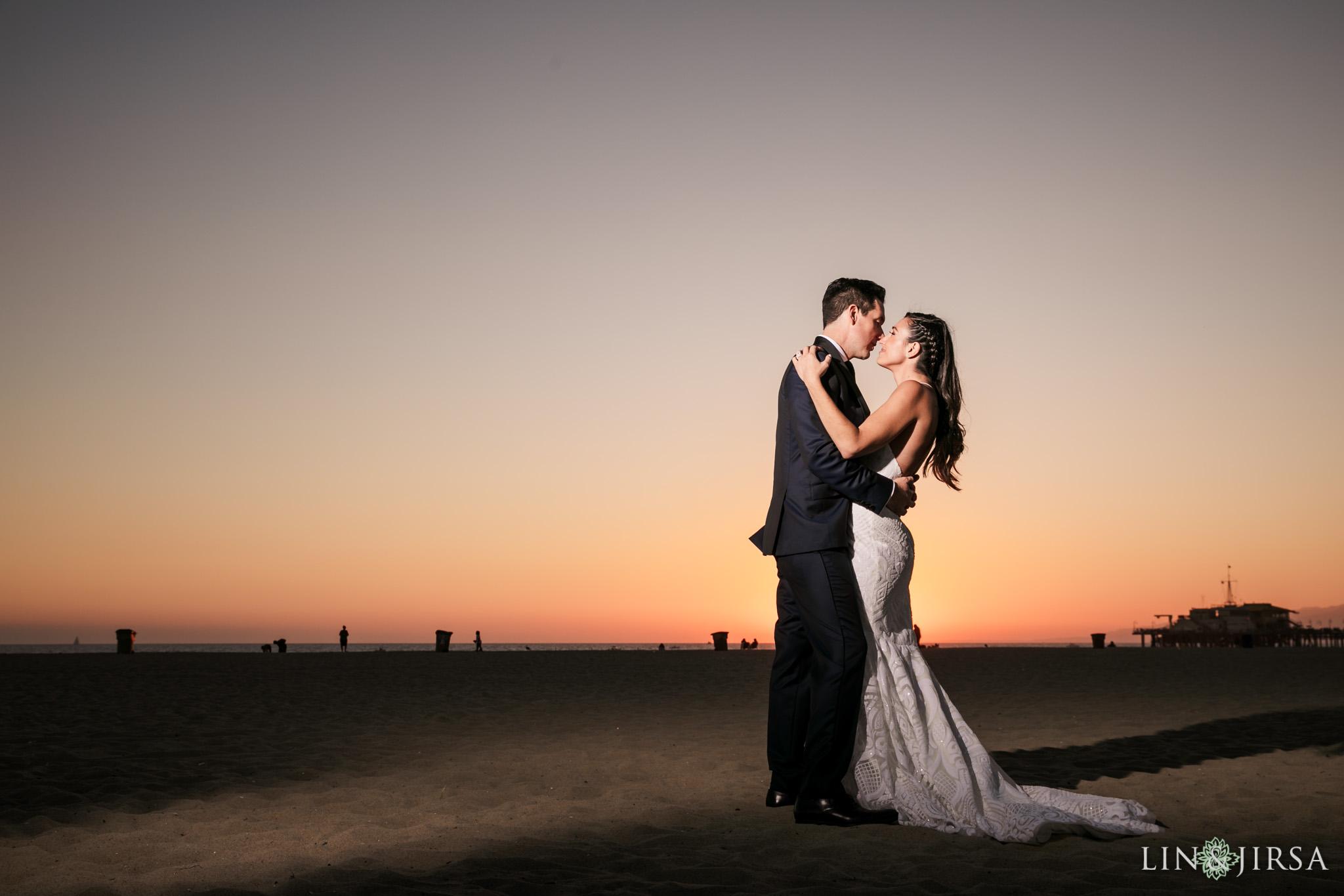 27 Shutters on the Beach Santa Monica Sunset Wedding Photography