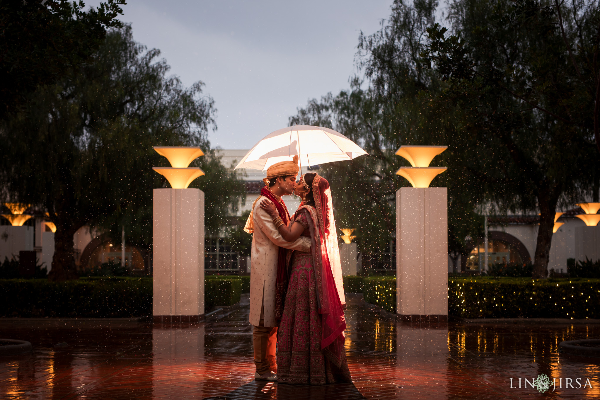 43 Union Station Los Angeles Indian Wedding Rain Photography
