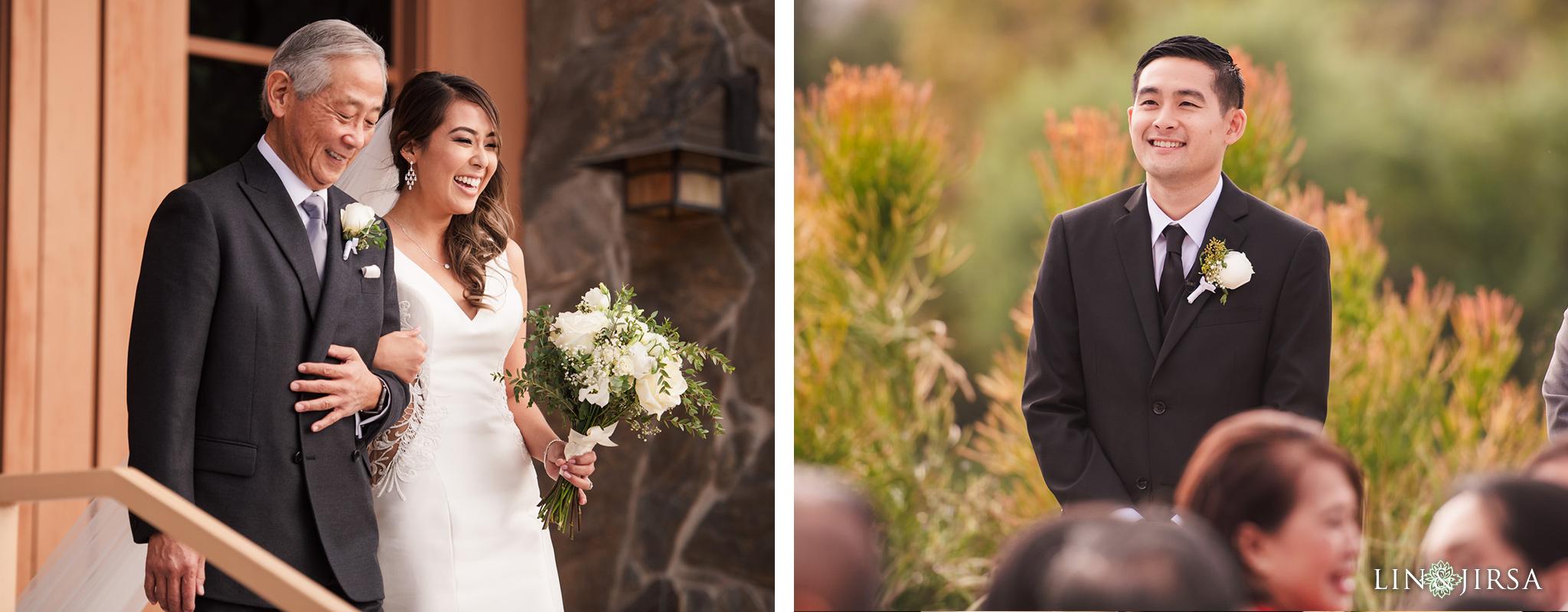Coto de Caza Golf Club Wedding Photography Ceremony Aisle Walk