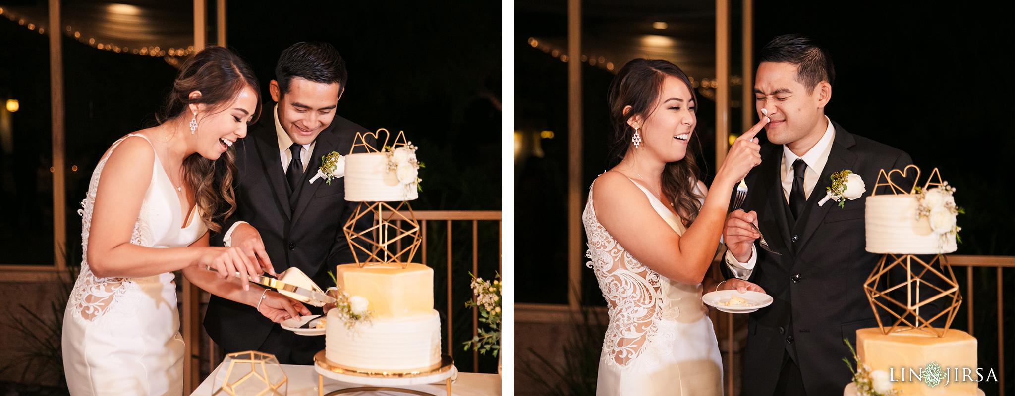 Coto de Caza Golf Club Wedding Photography Cake Cutting