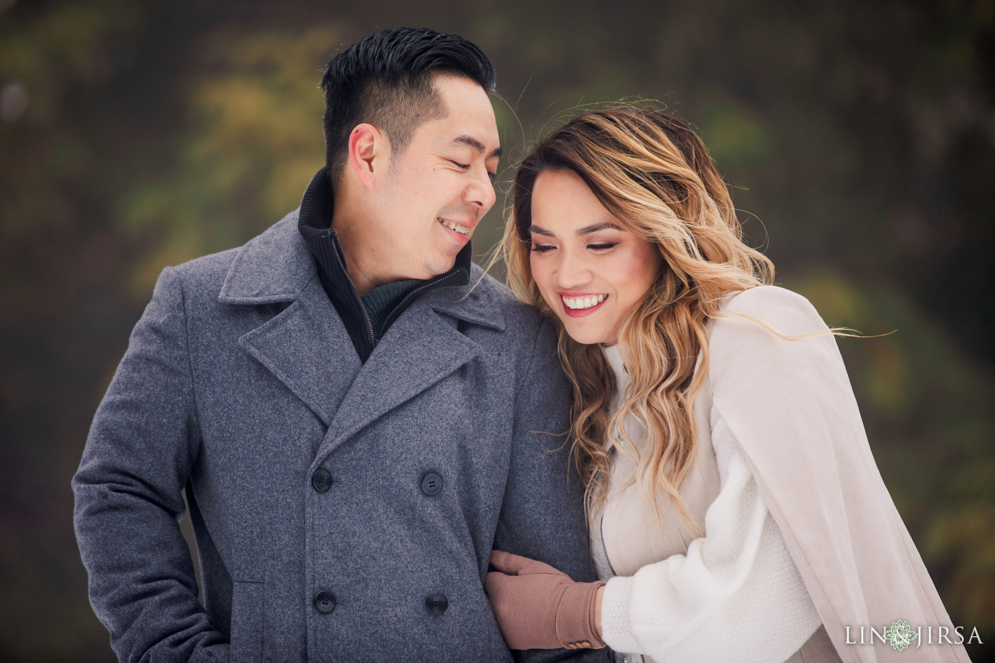 02 Green Valley Lake Snowy Engagement Photography