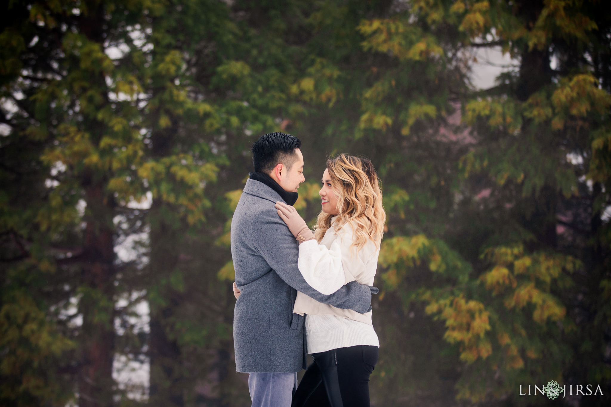 03 Green Valley Lake Snowy Engagement Photography