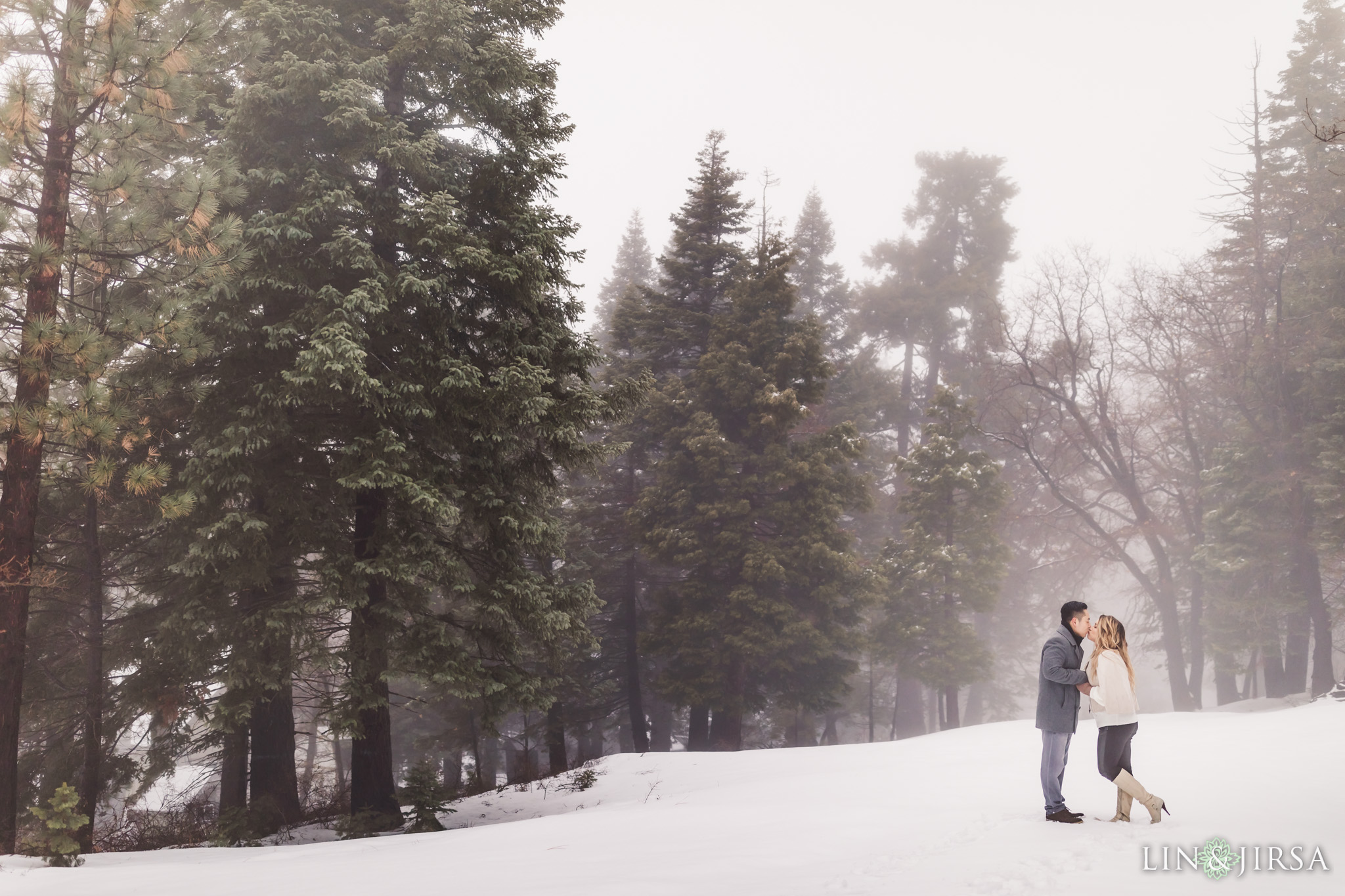 05 Big Bear Mountain Snowy Engagement Photography