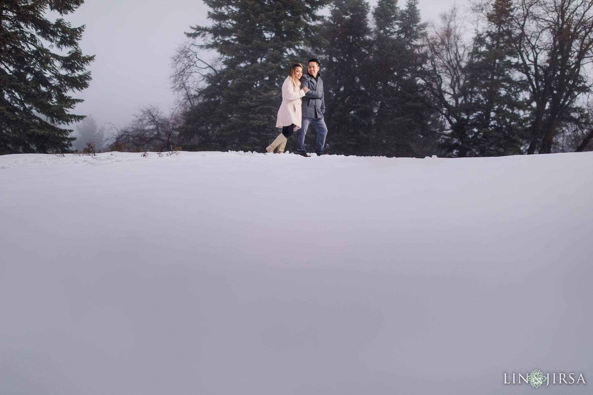 09 Big Bear Lake Snowy Engagement Photography