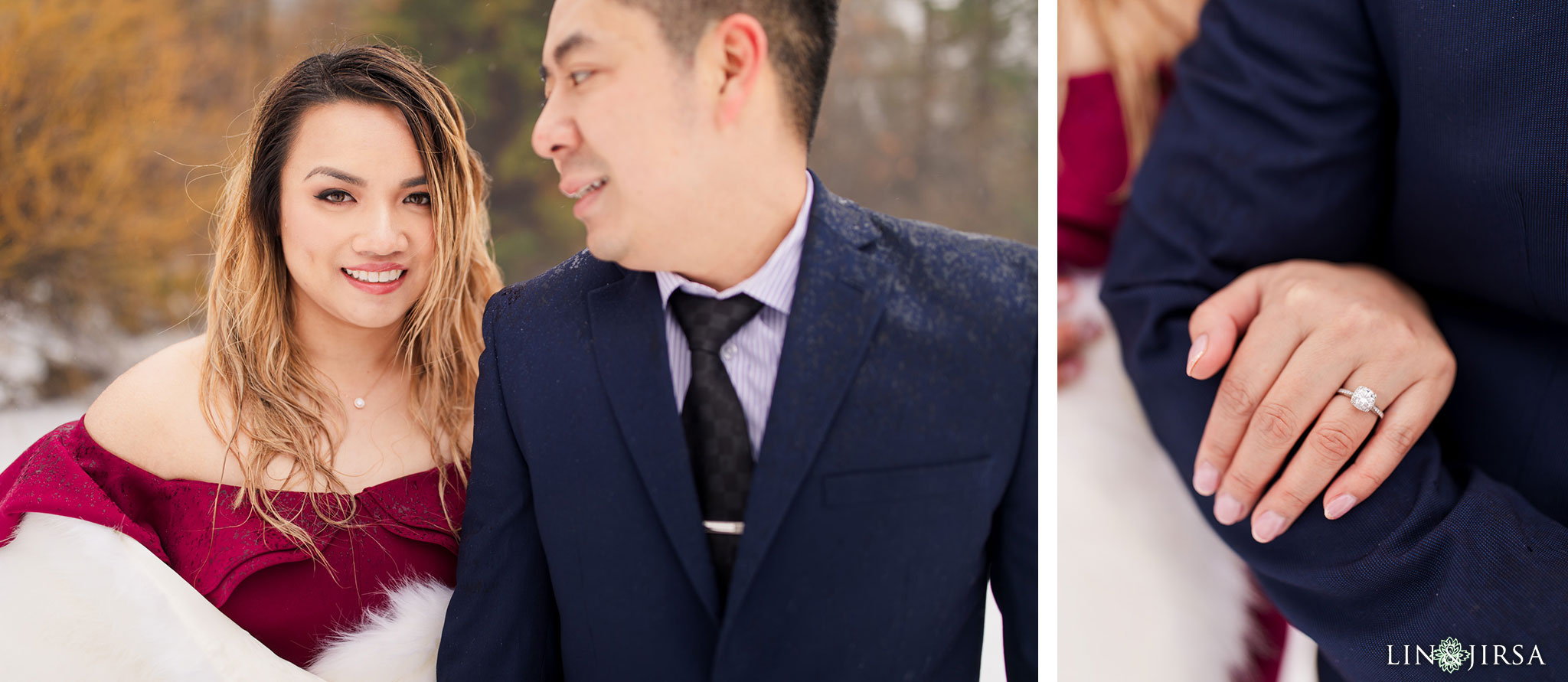 10 Green Valley Lake Snowy Engagement Photography