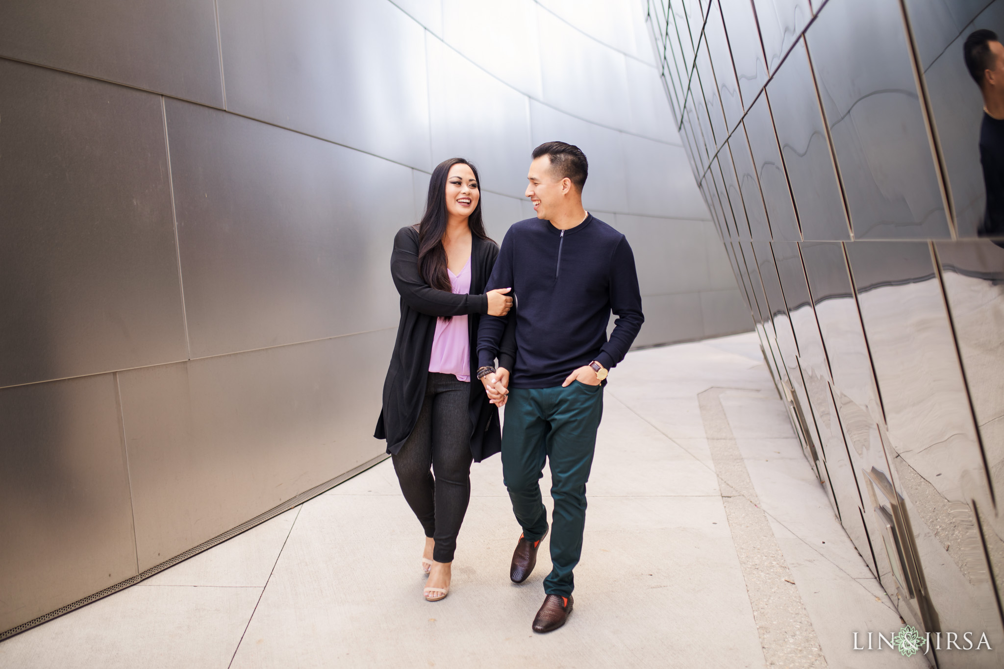 ZNC Walt Disney Concert Hall Los Angeles Engagement Photography