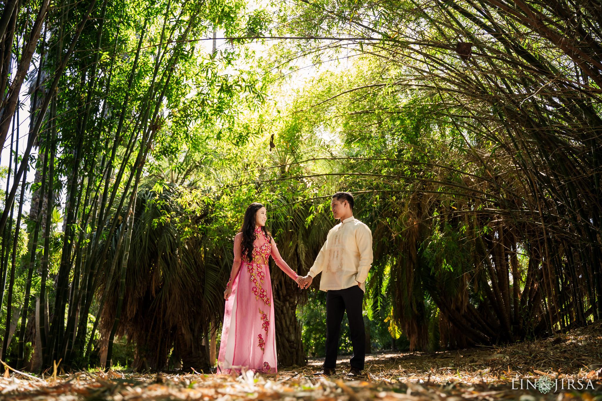 02 Los Angeles Arboretum Spring Engagement Photography