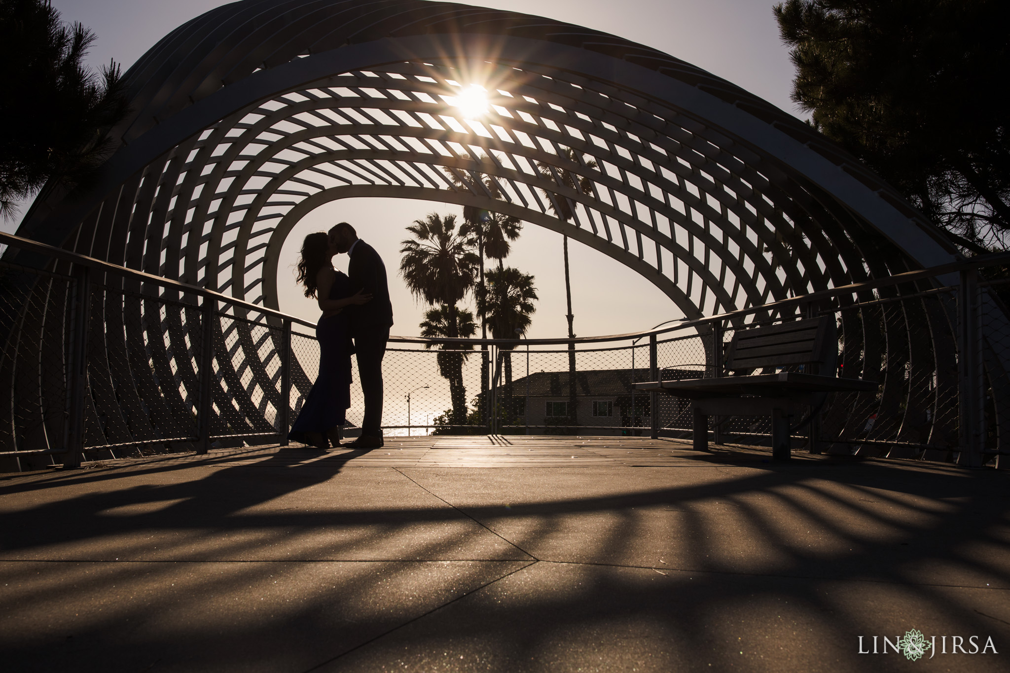 06 Tongva Park Santa Monica Pier Engagement Photography