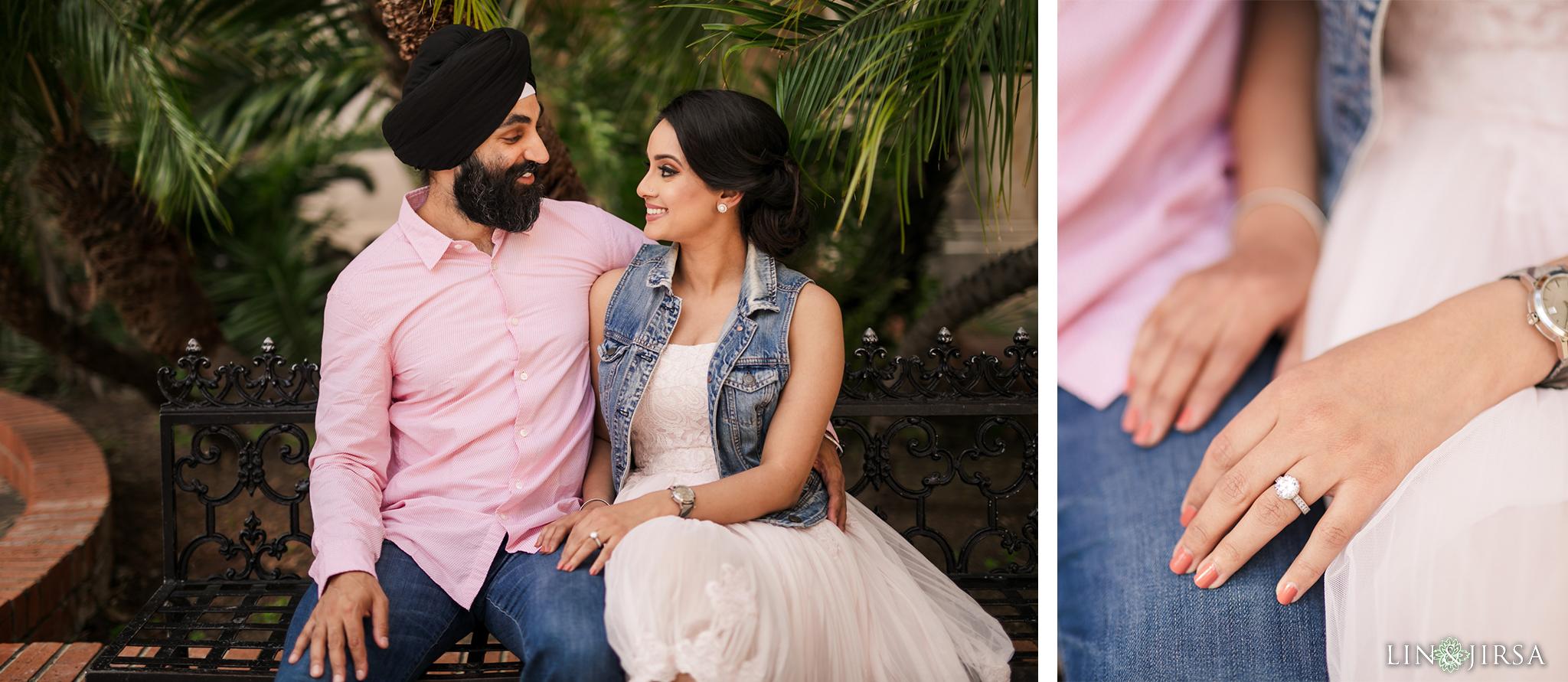 07 Balboa Park San Diego Punjabi Indian Engagement Photography