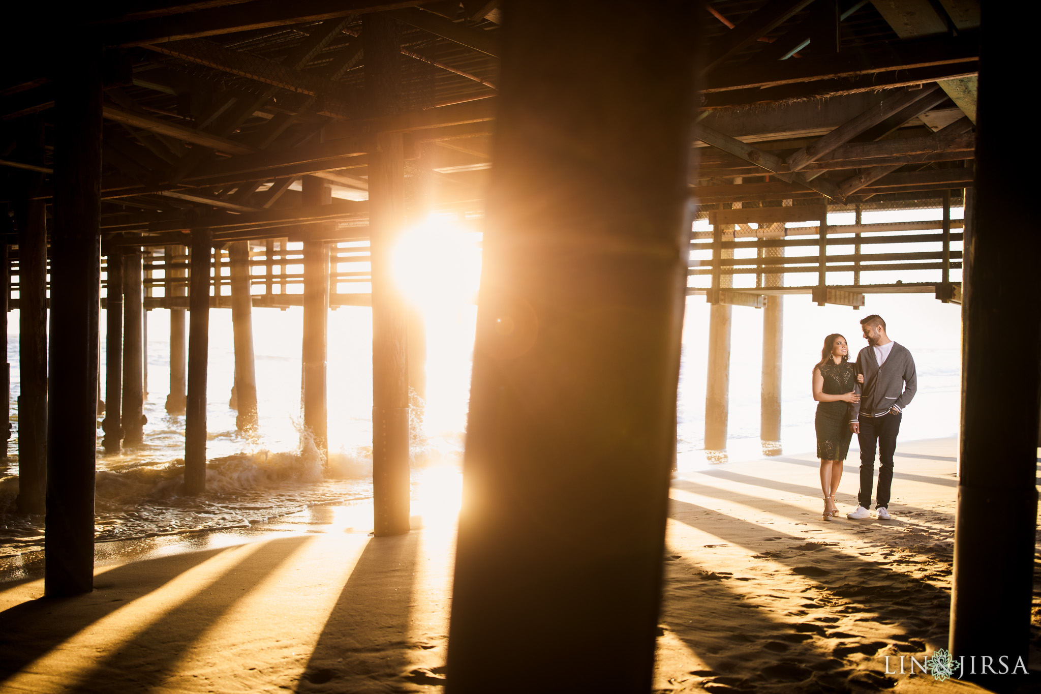 07 Tongva Park Santa Monica Pier Engagement Photography
