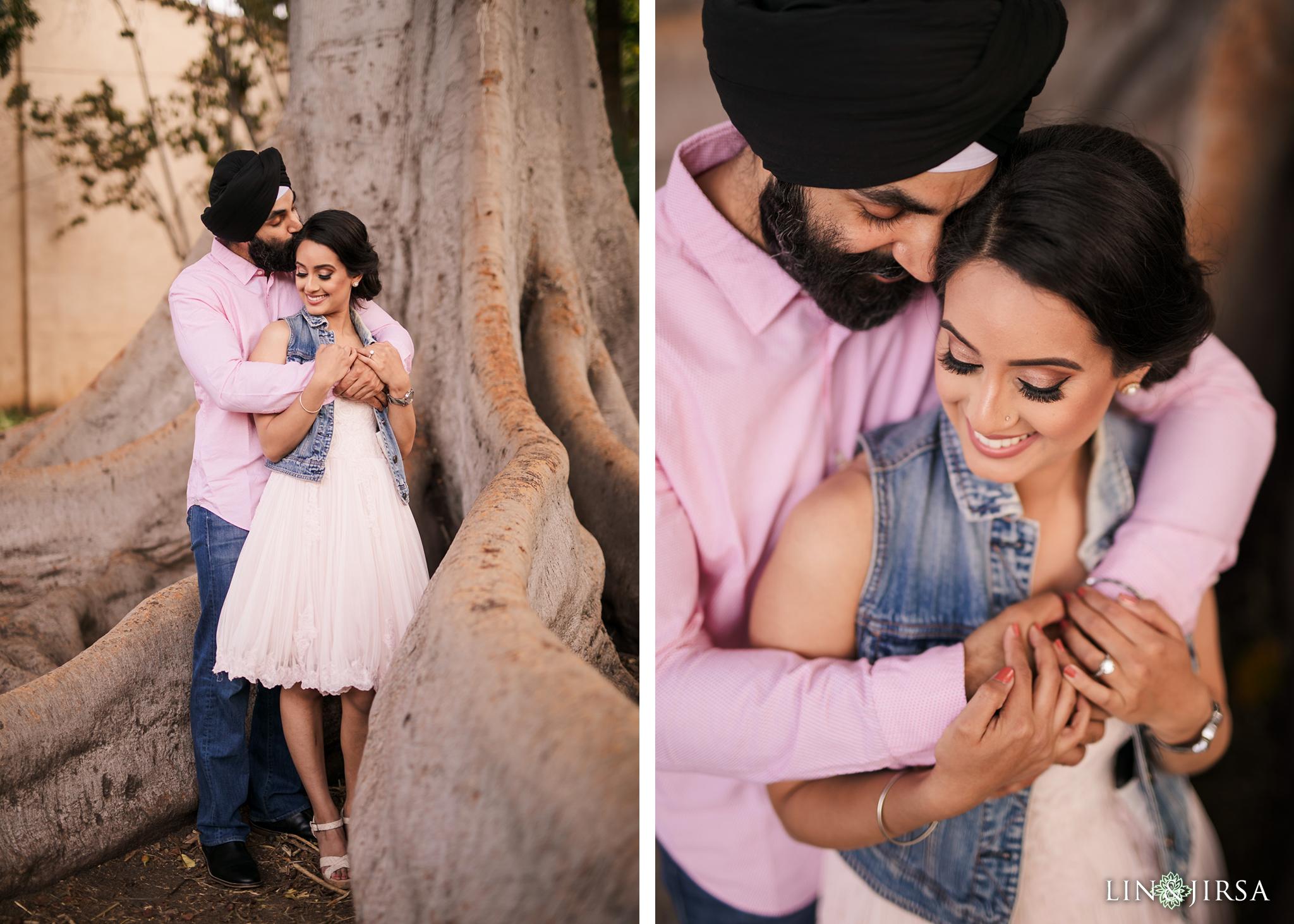 08 Balboa Park San Diego Punjabi Indian Engagement Photography