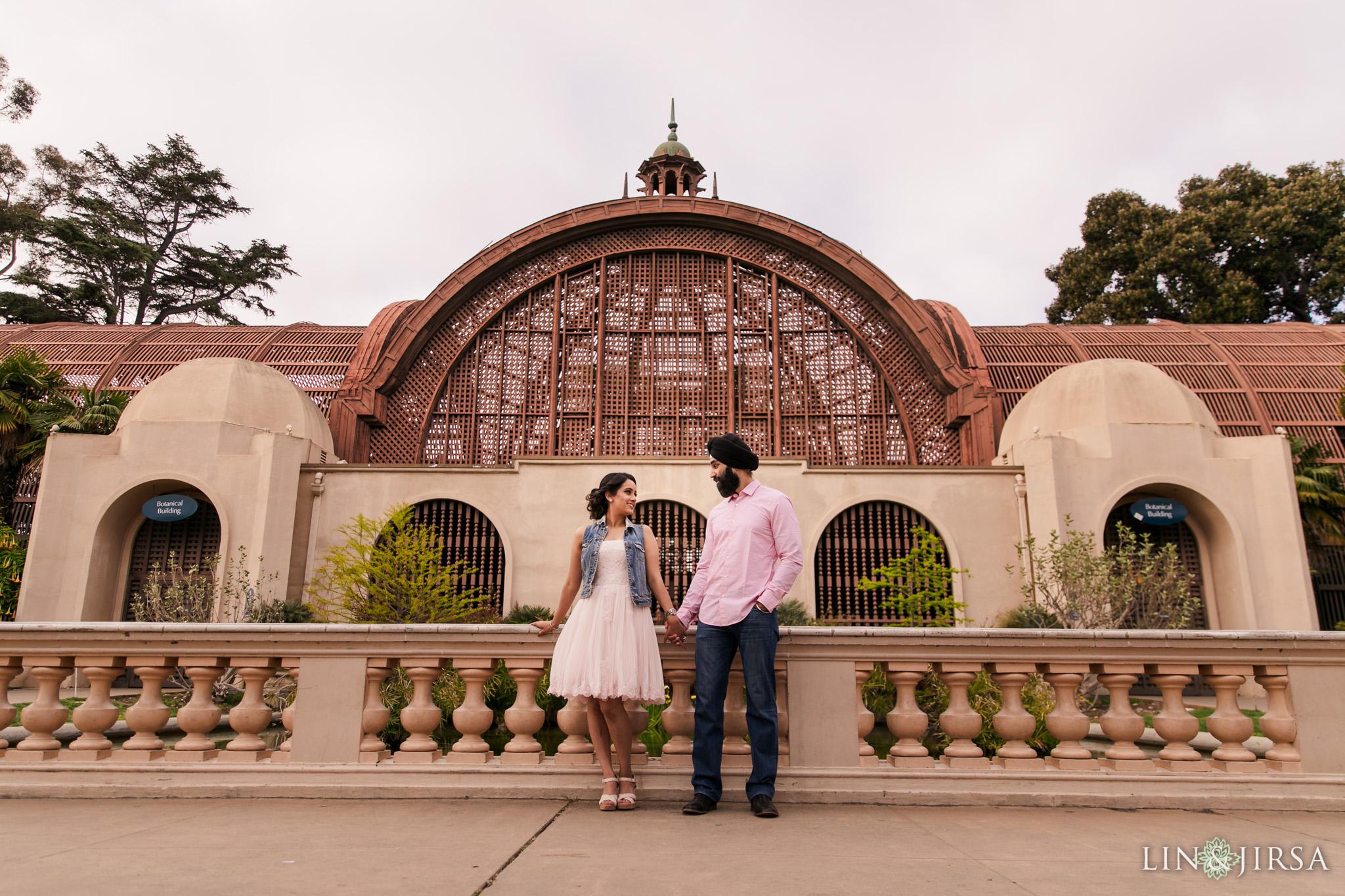 09 Balboa Park San Diego Punjabi Indian Engagement Photography