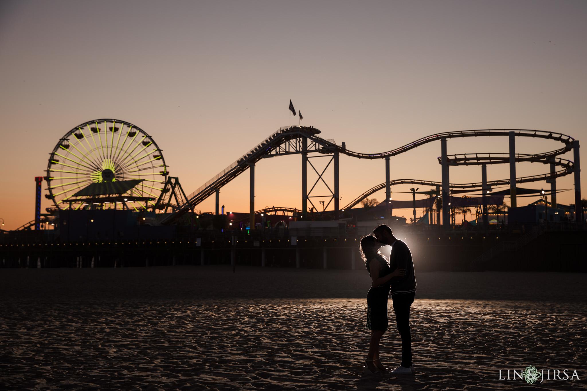 09 Tongva Park Santa Monica Pier Engagement Photography