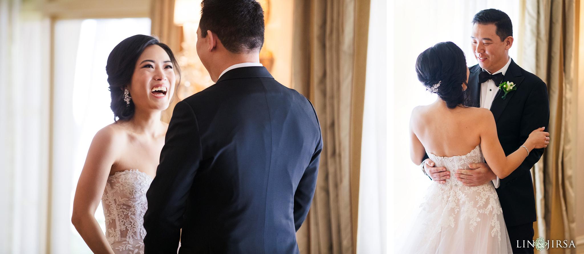 1 Langham Huntington Pasadena First Look Wedding Photography