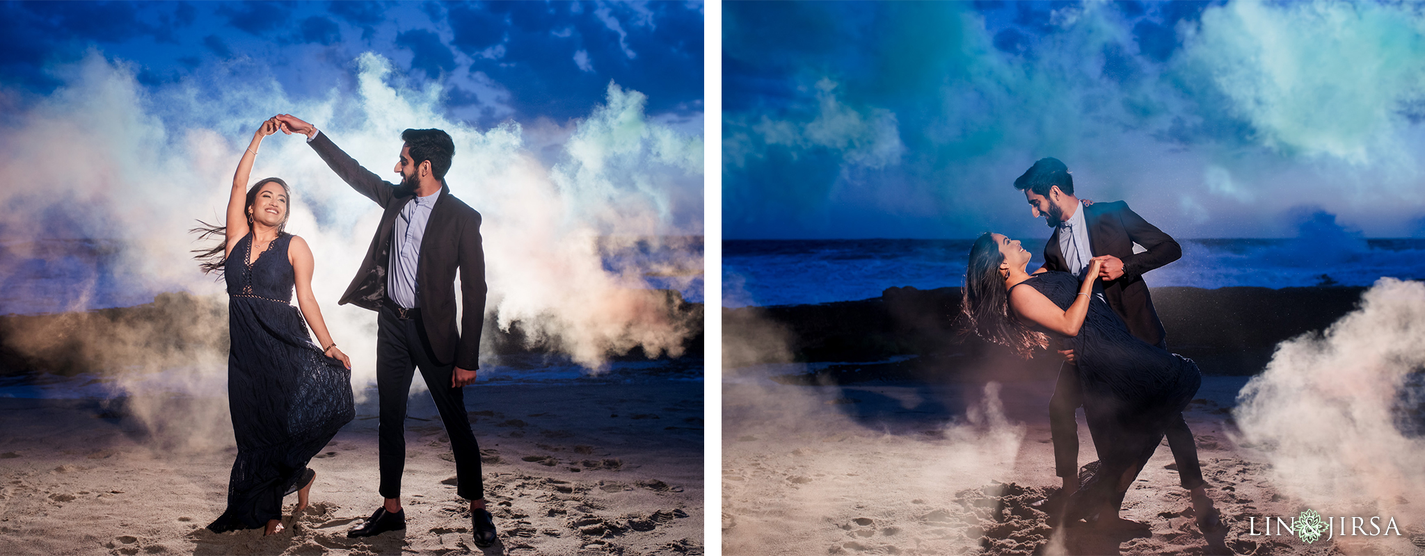 11 Victoria Beach Smoke Engagement Photography