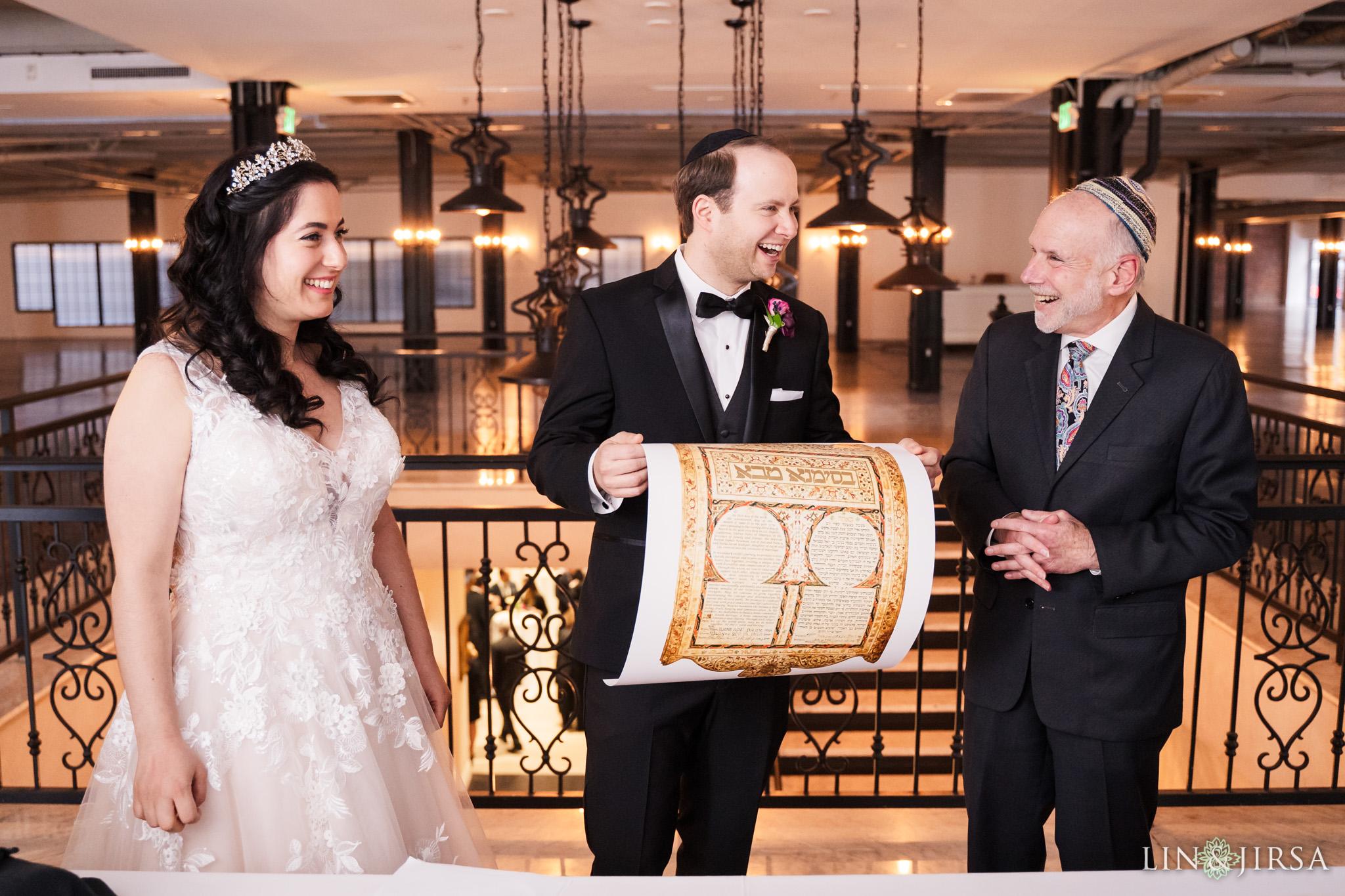 15 Alexandria Ballrooms Los Angeles Jewish Wedding Ketubah Photography