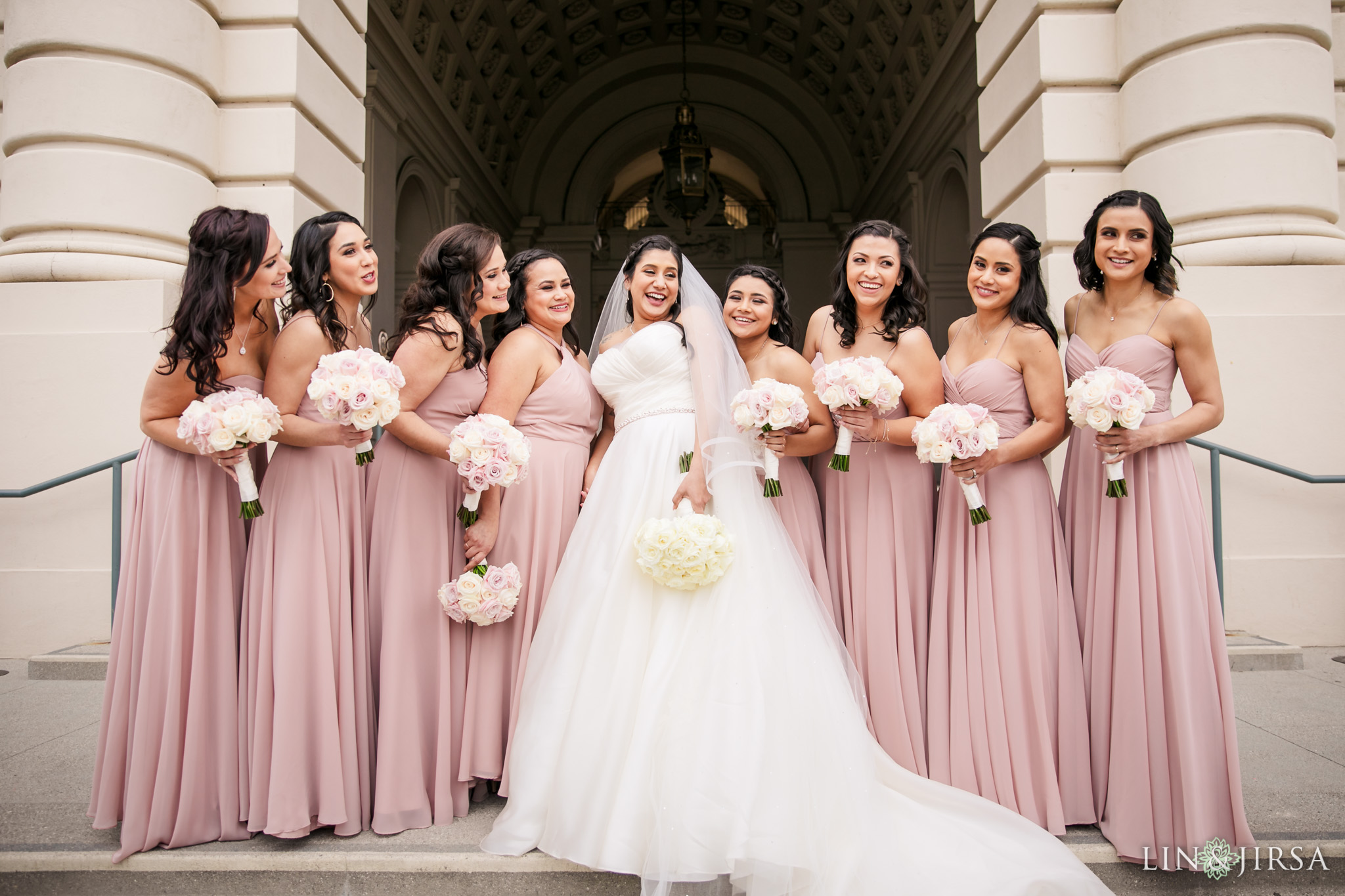 24 Pasadena City Hall Wedding Party Photography
