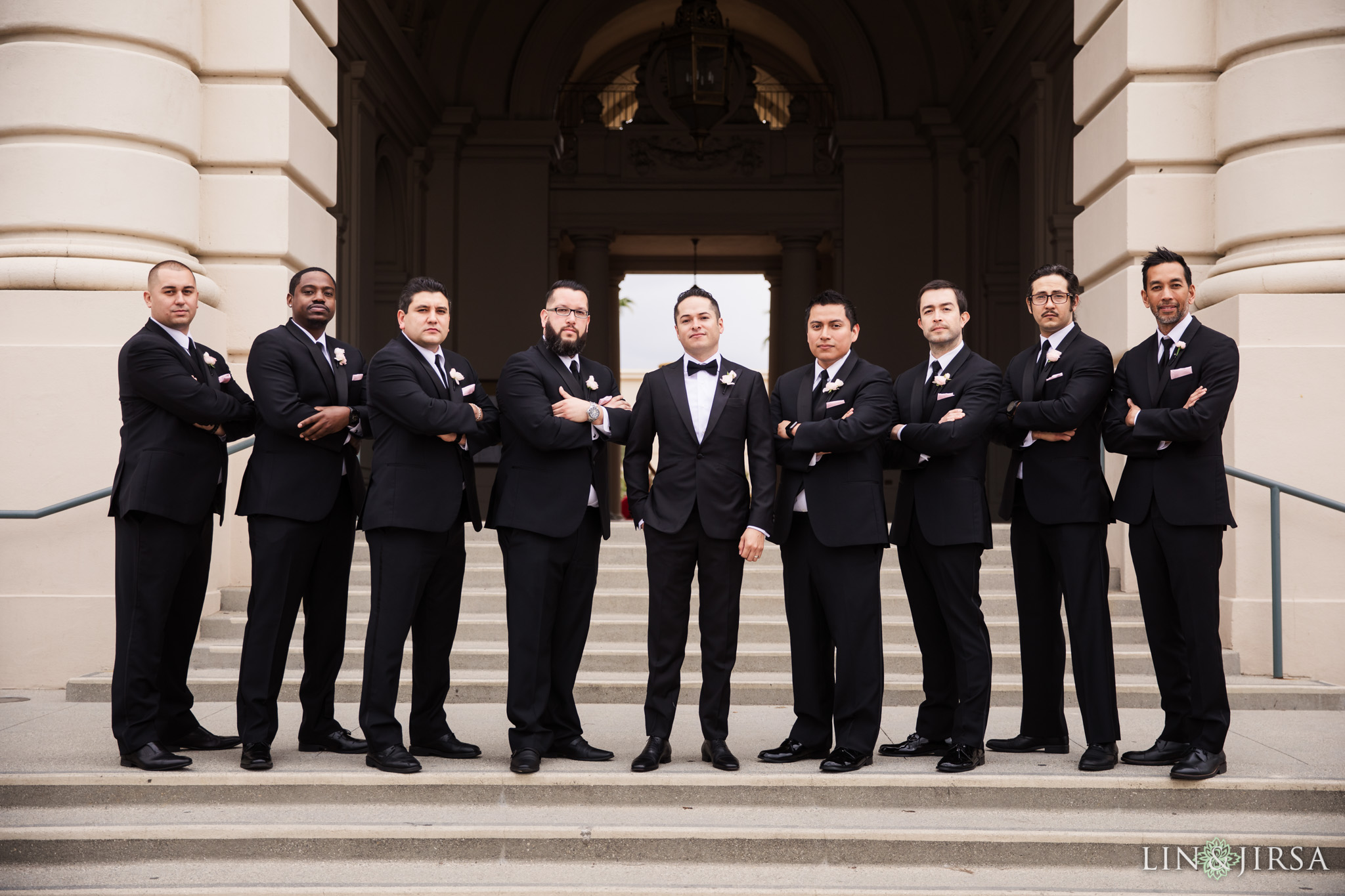 25 Pasadena City Hall Wedding Party Photography
