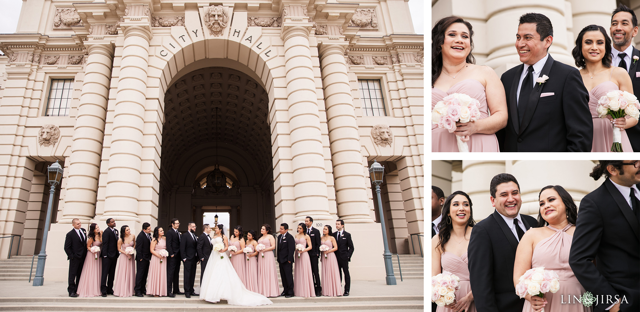 26 Pasadena City Hall Wedding Party Photography
