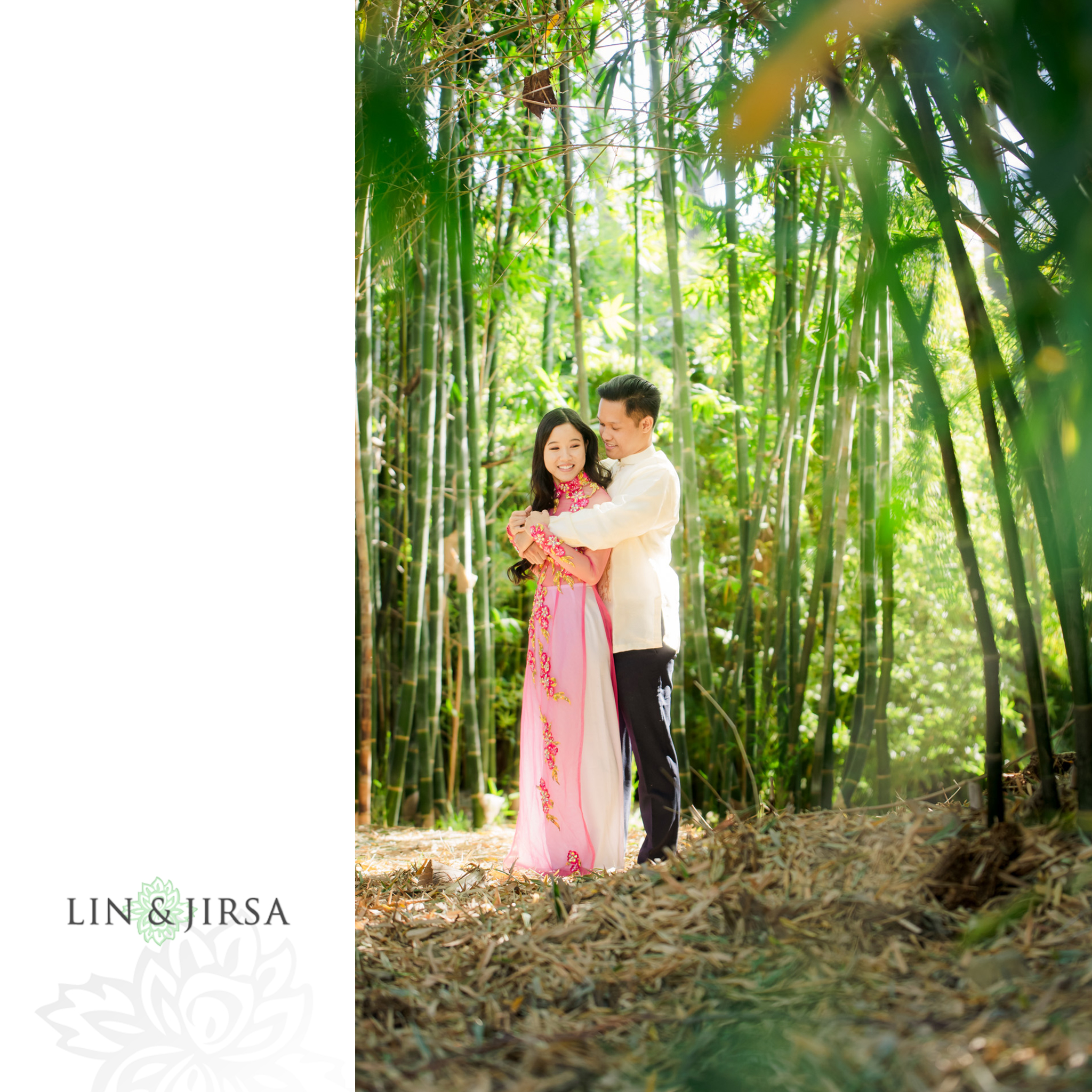 zjg Los Angeles Arboretum Spring Engagement Photography