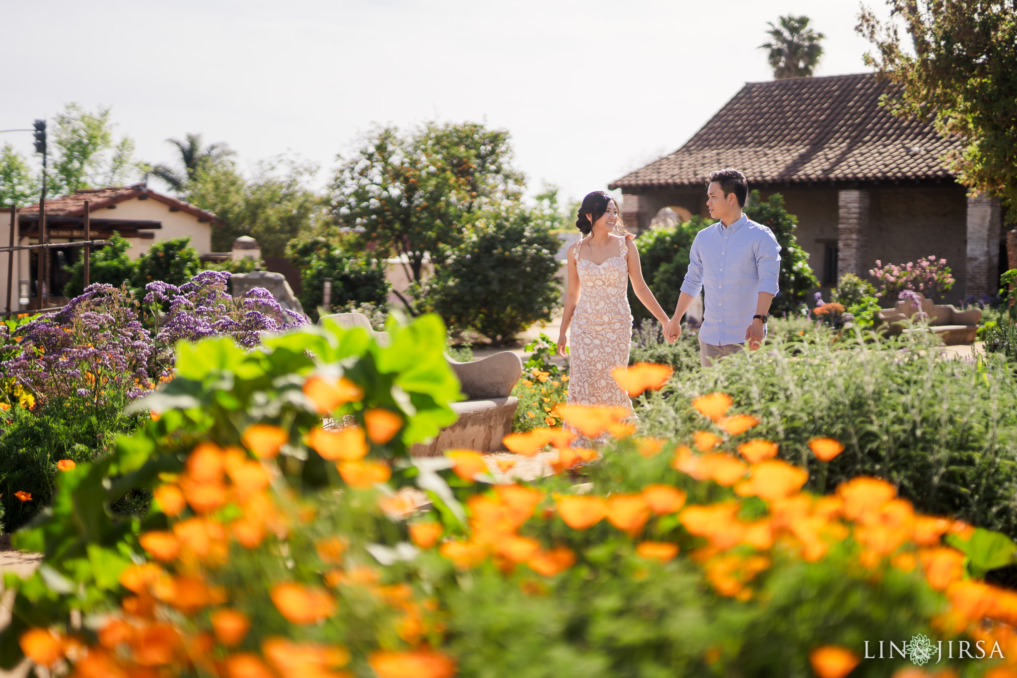 zjg Mission San Juan Capistrano Engagement Photography