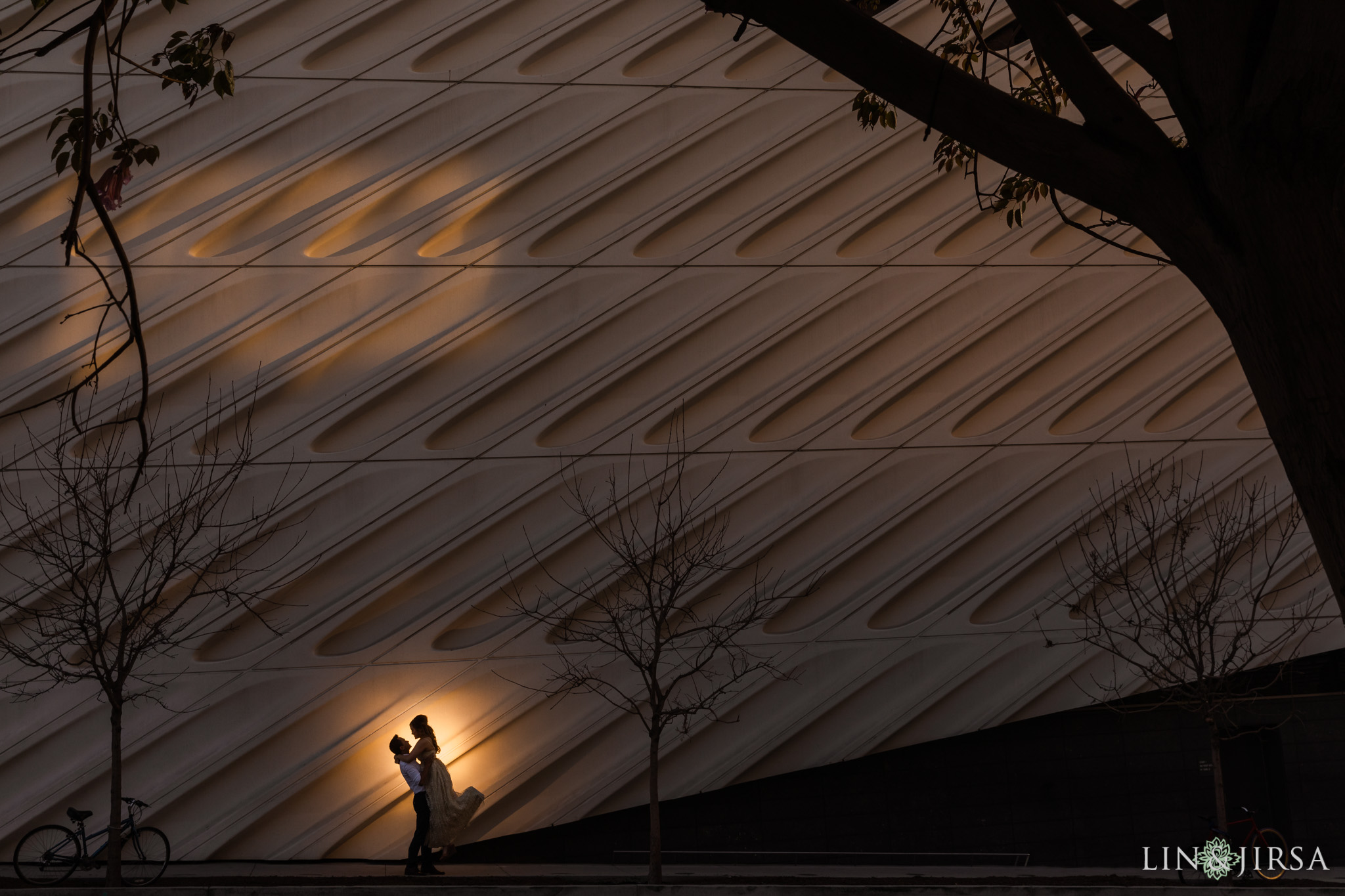 09 The Broad Museum Downtown Los Angeles Engagement Photography