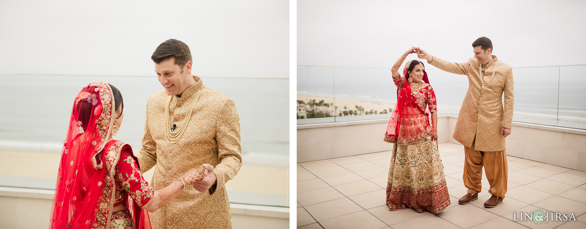 10 The Waterfront Beach Resort Orange County Indian Wedding Photography