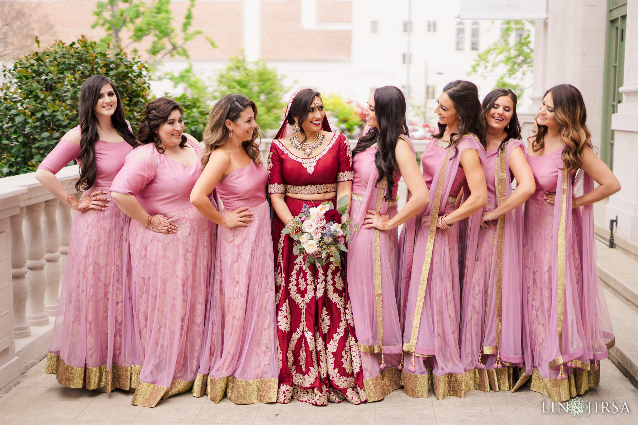 11 The Ebell Los Angeles Bridal Party Wedding Photography