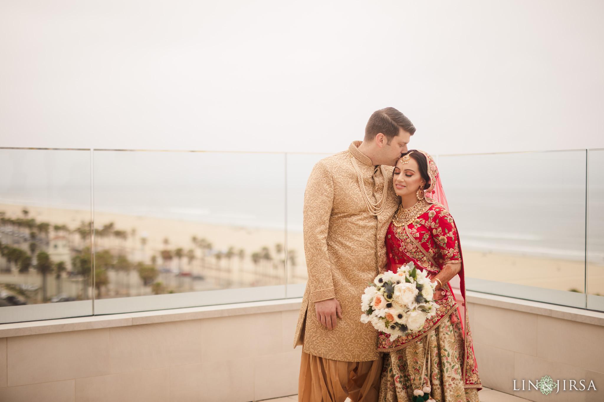 11 The Waterfront Beach Resort Orange County Indian Wedding Photography