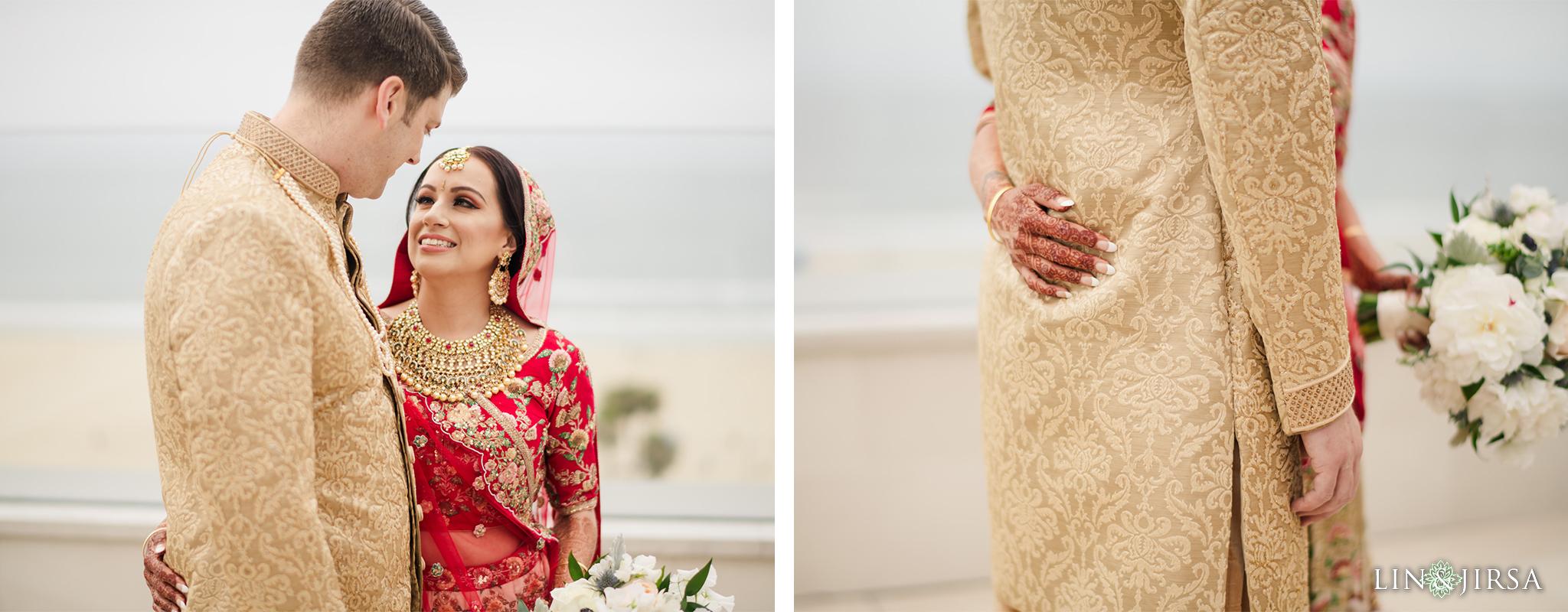 12 The Waterfront Beach Resort Orange County Indian Wedding Photography