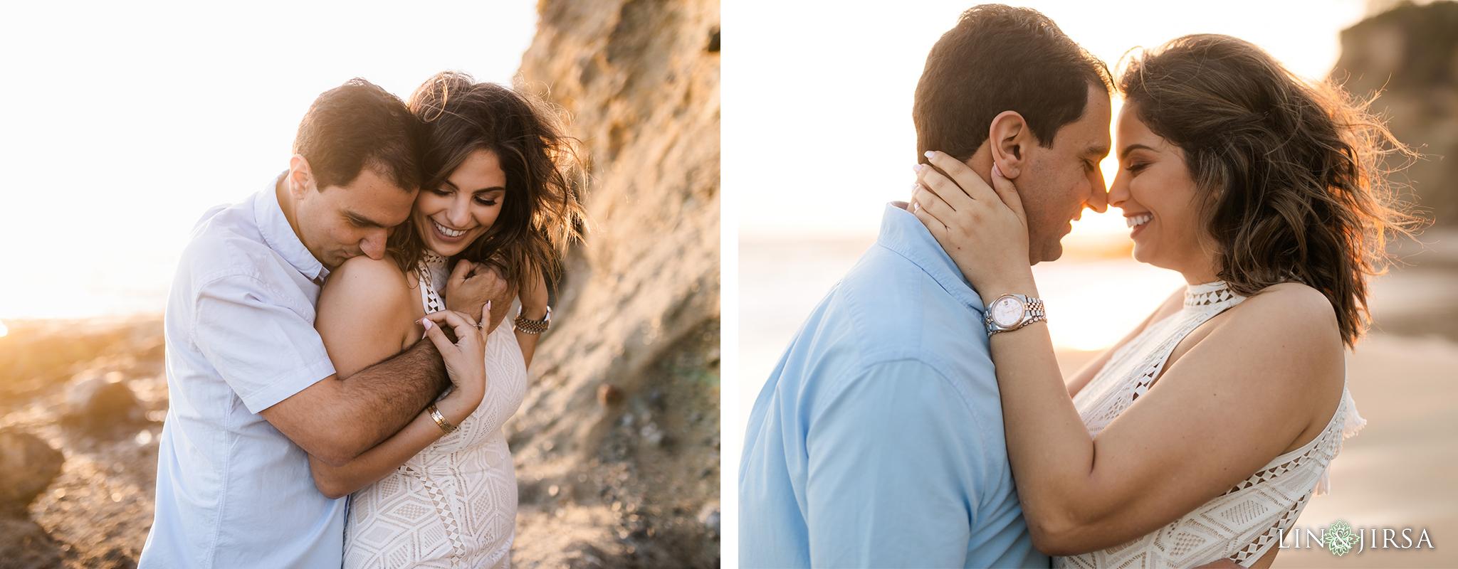 13 Orange County Sunset Beach Engagement Photography