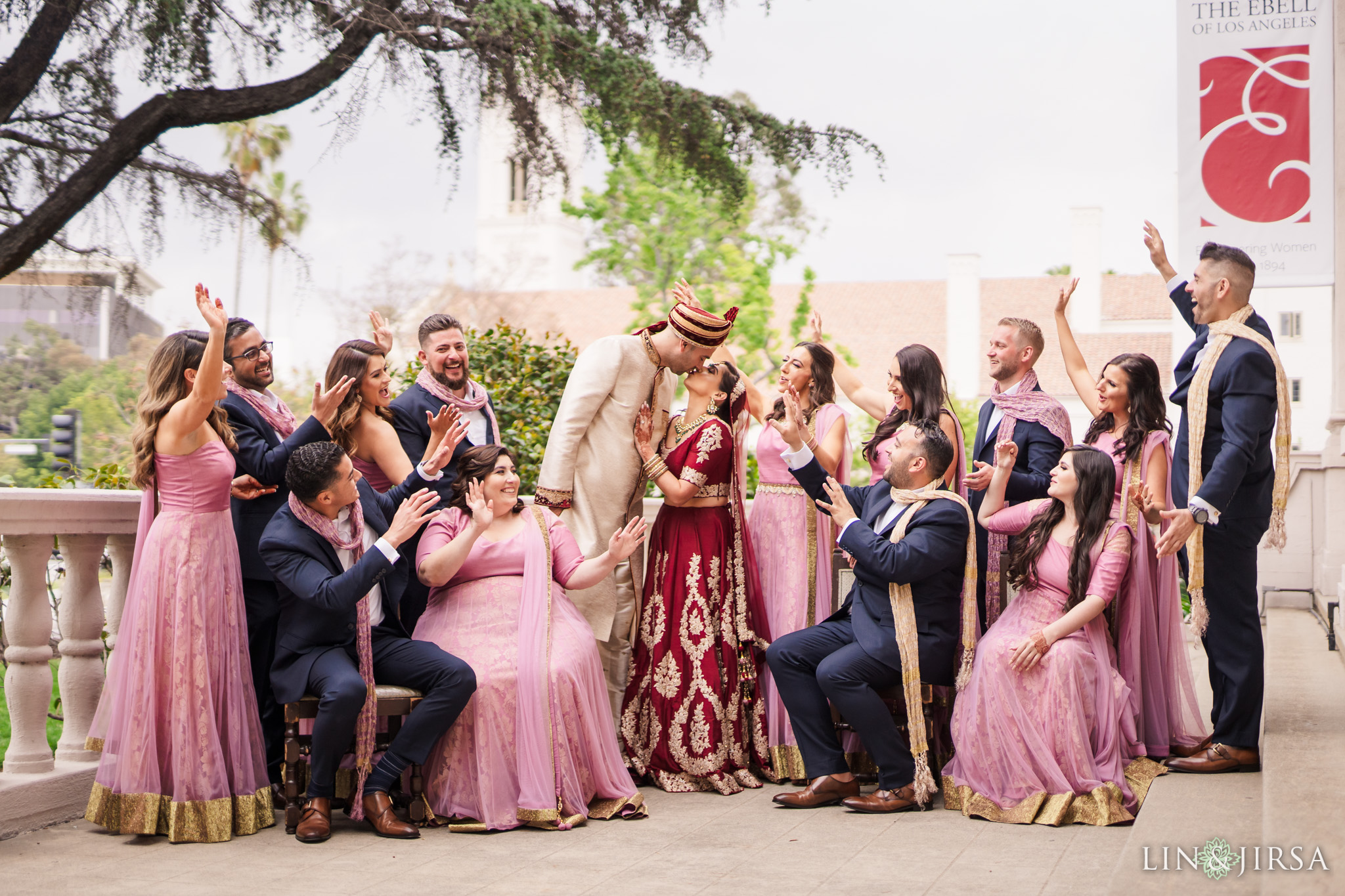 13 The Ebell Los Angeles Indian Wedding Party Photography