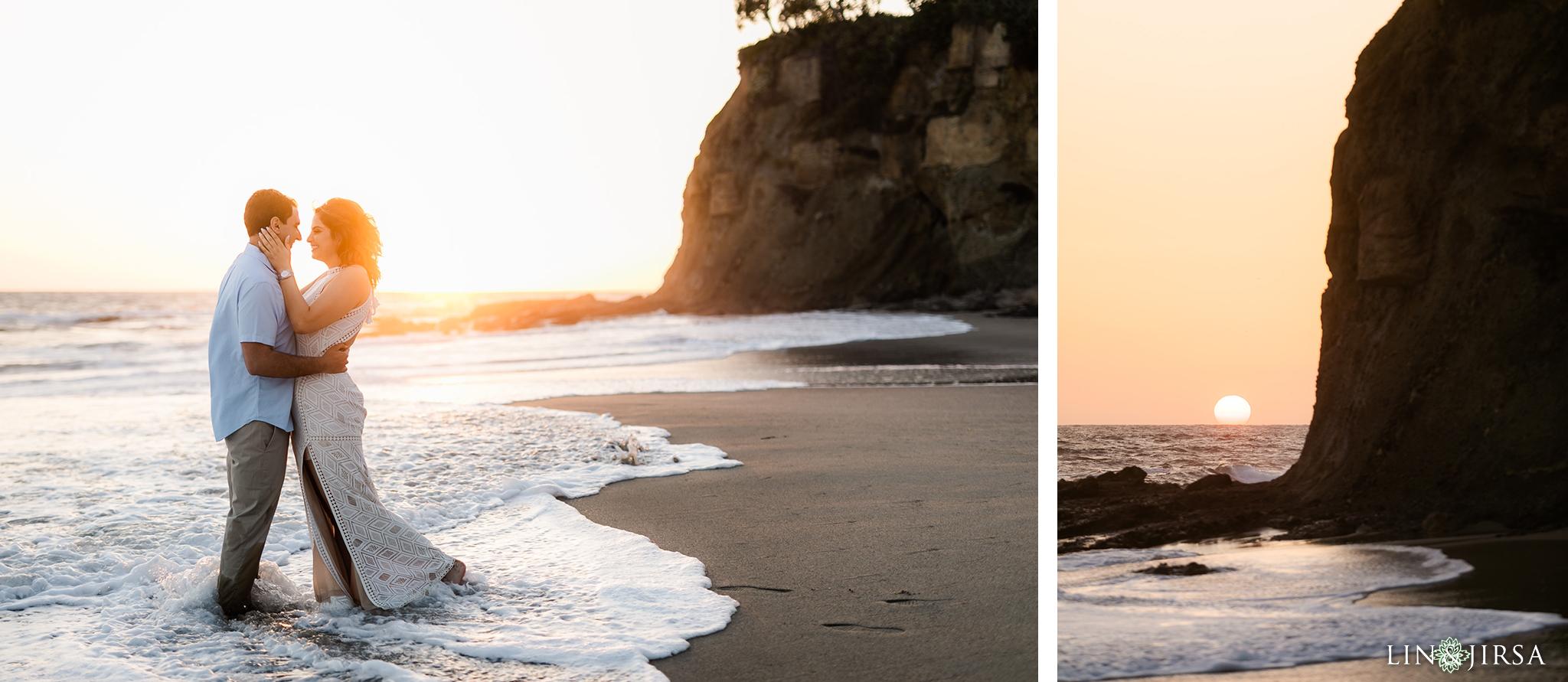 14 Orange County Sunset Beach Engagement Photography