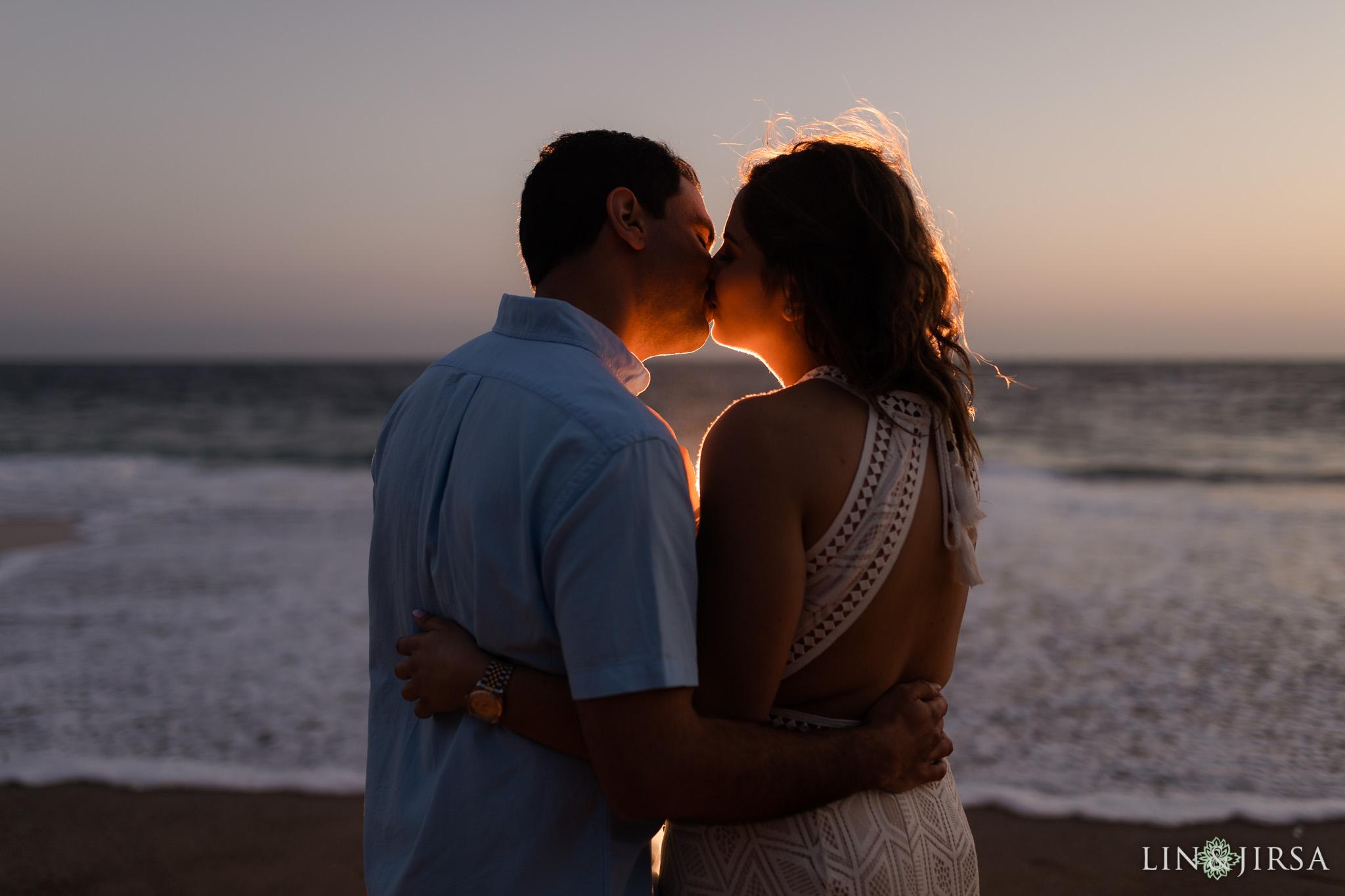 16 Orange County Sunset Beach Engagement Photography