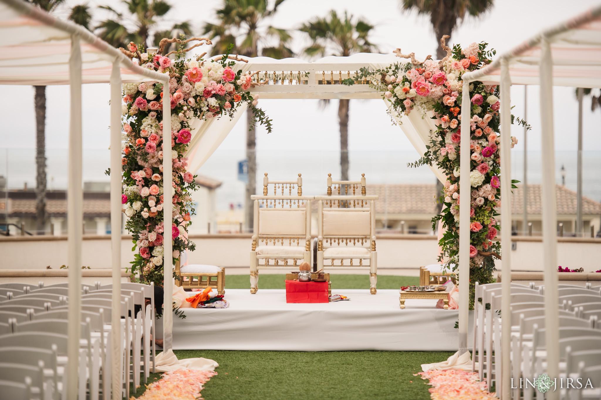 16 The Waterfront Beach Resort Orange County Indian Wedding Photography