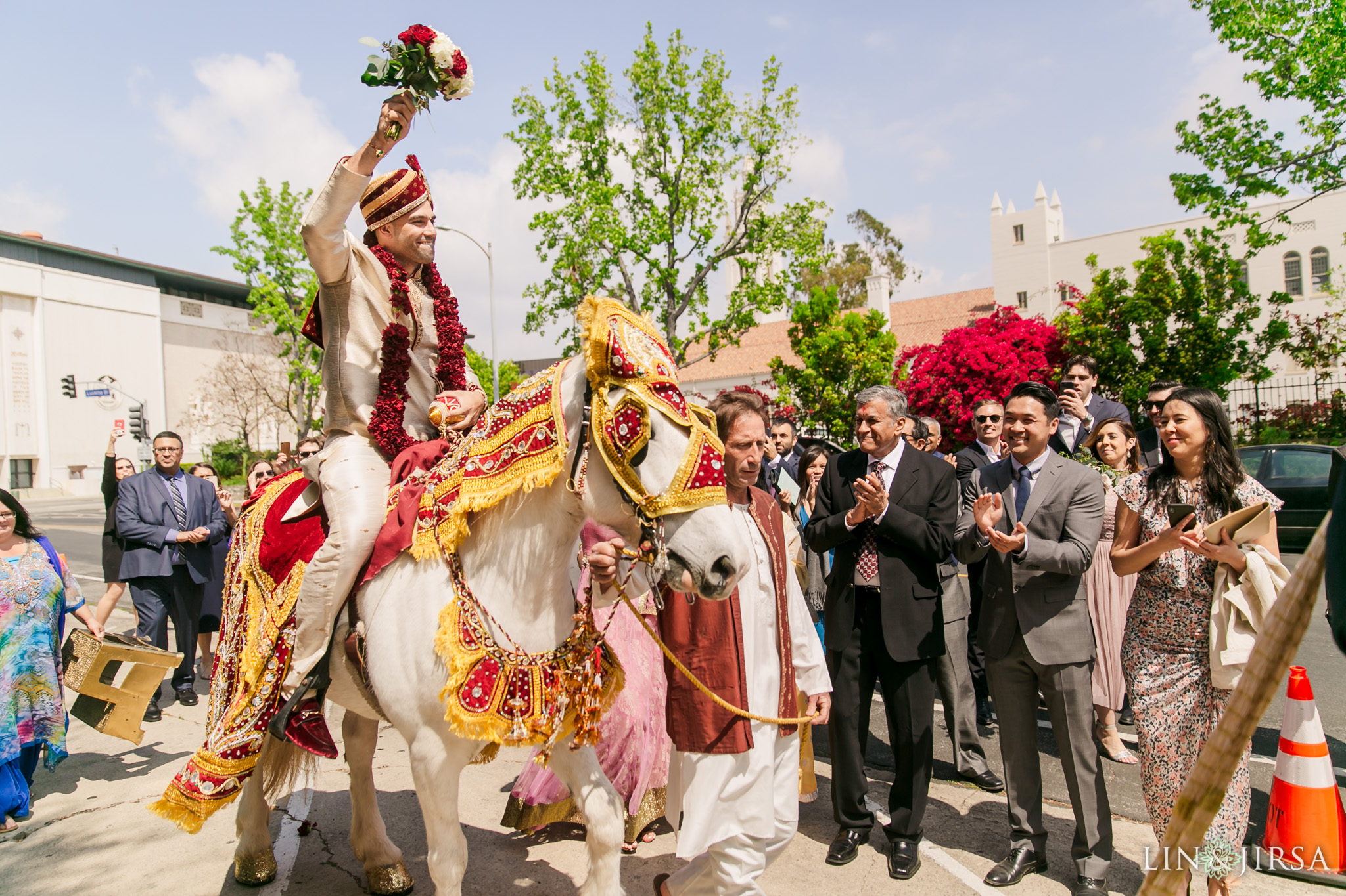 17 The Ebell Los Angeles Indian Wedding Baraat Photography