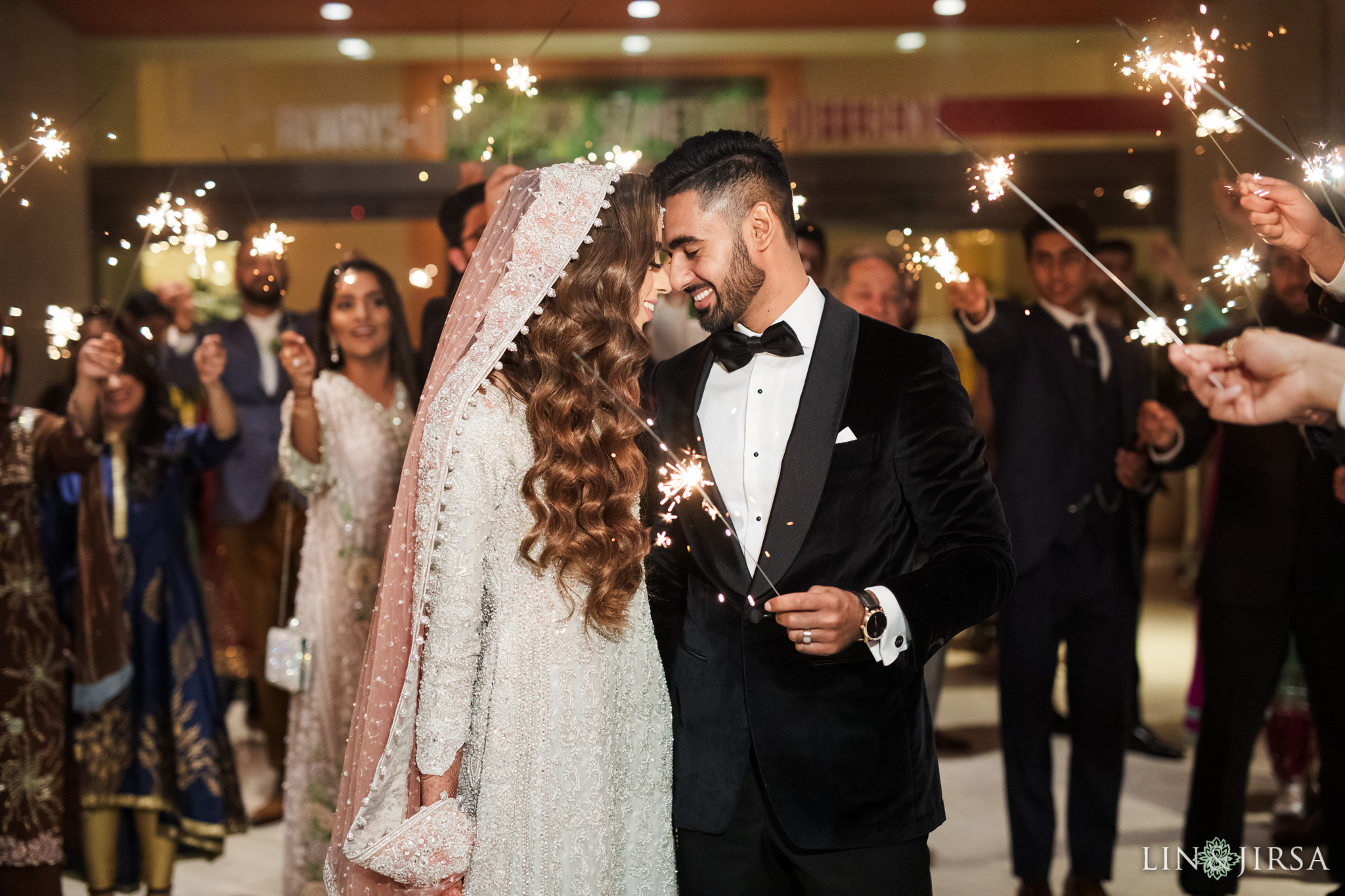 20 Hotel Irvine Pakistani Muslim Wedding Sparklers Photography